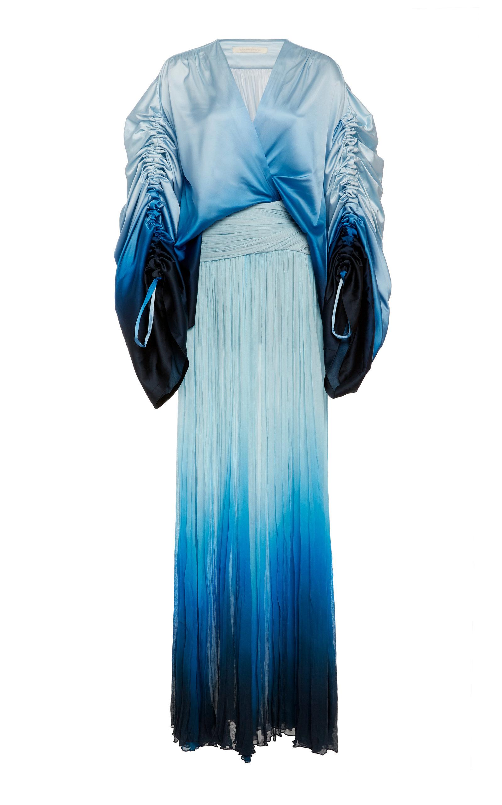 Buy Jonathan Simkhai Ombre Satin And Chiffon Dress online, shop Jonathan Simkhai at the best price