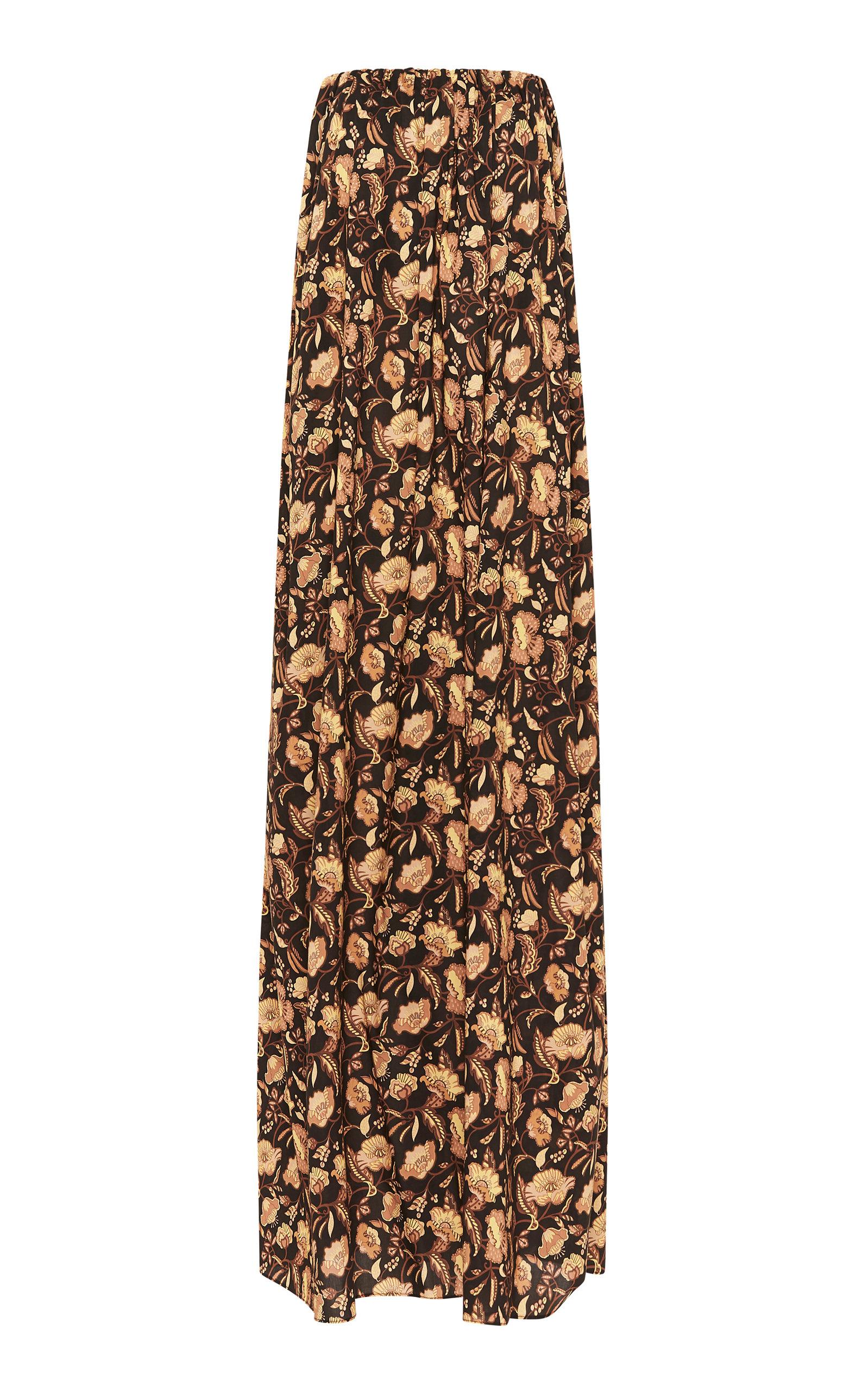 Buy Matteau Strapless Floral-Print Cotton Maxi Dress online, shop Matteau at the best price