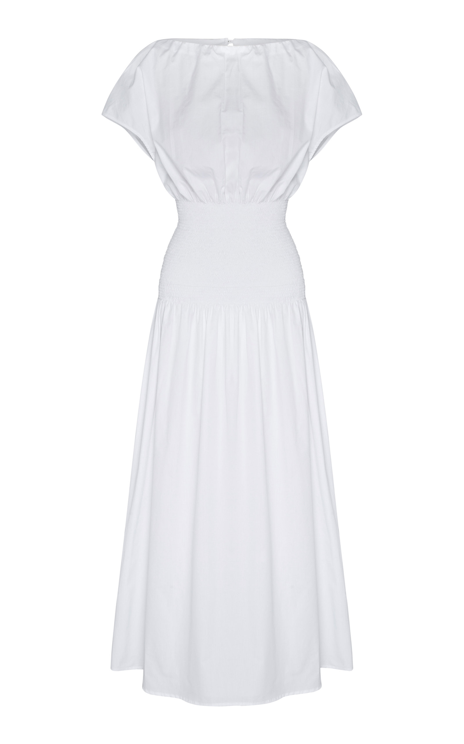 Buy Anna Quan Emma-Kate Shirred Cotton-Poplin Midi Dress online, shop Anna Quan at the best price