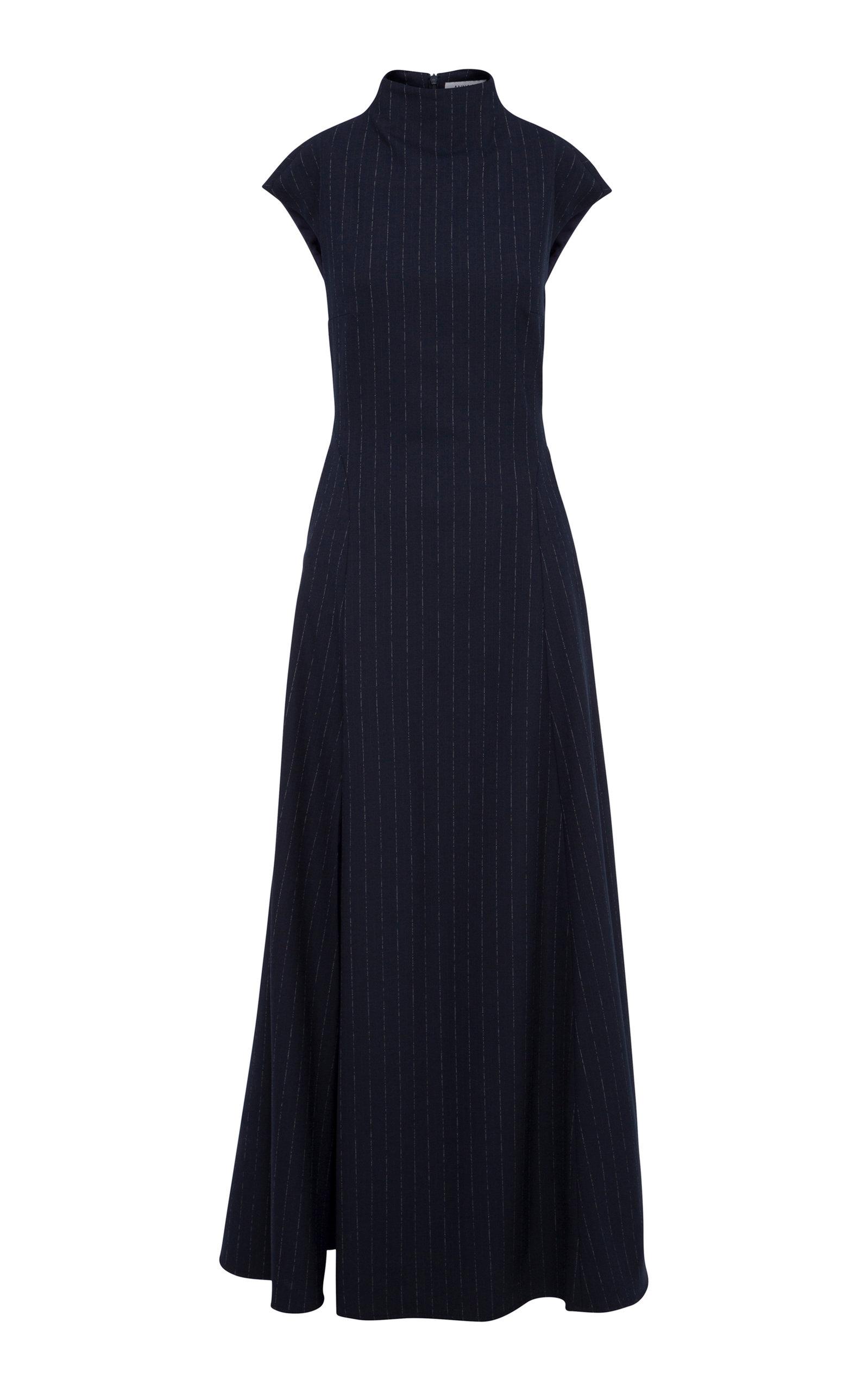 Buy Anna Quan Rhoda Pinstriped Crepe Maxi Dress online, shop Anna Quan at the best price