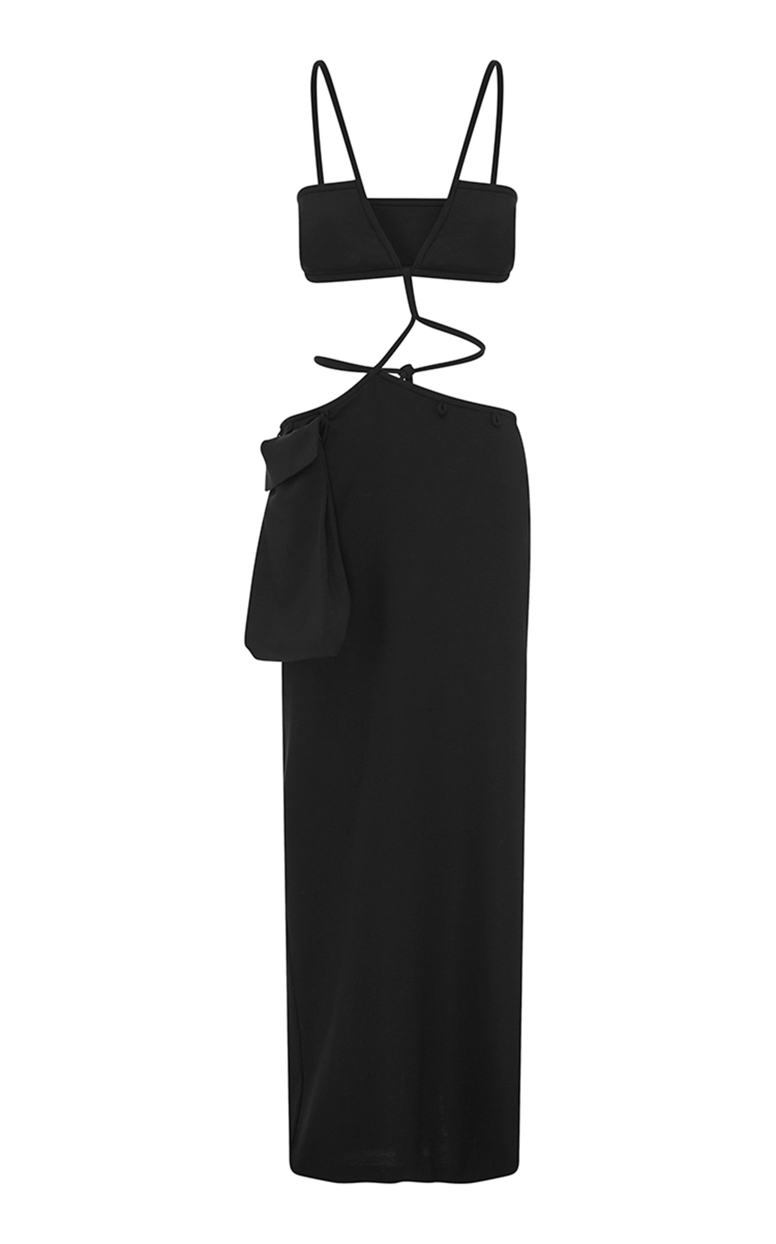 Buy Christopher Esber Tie-Detailed Wool-Blend Crepe Bandeau Dress online, shop Christopher Esber at the best price
