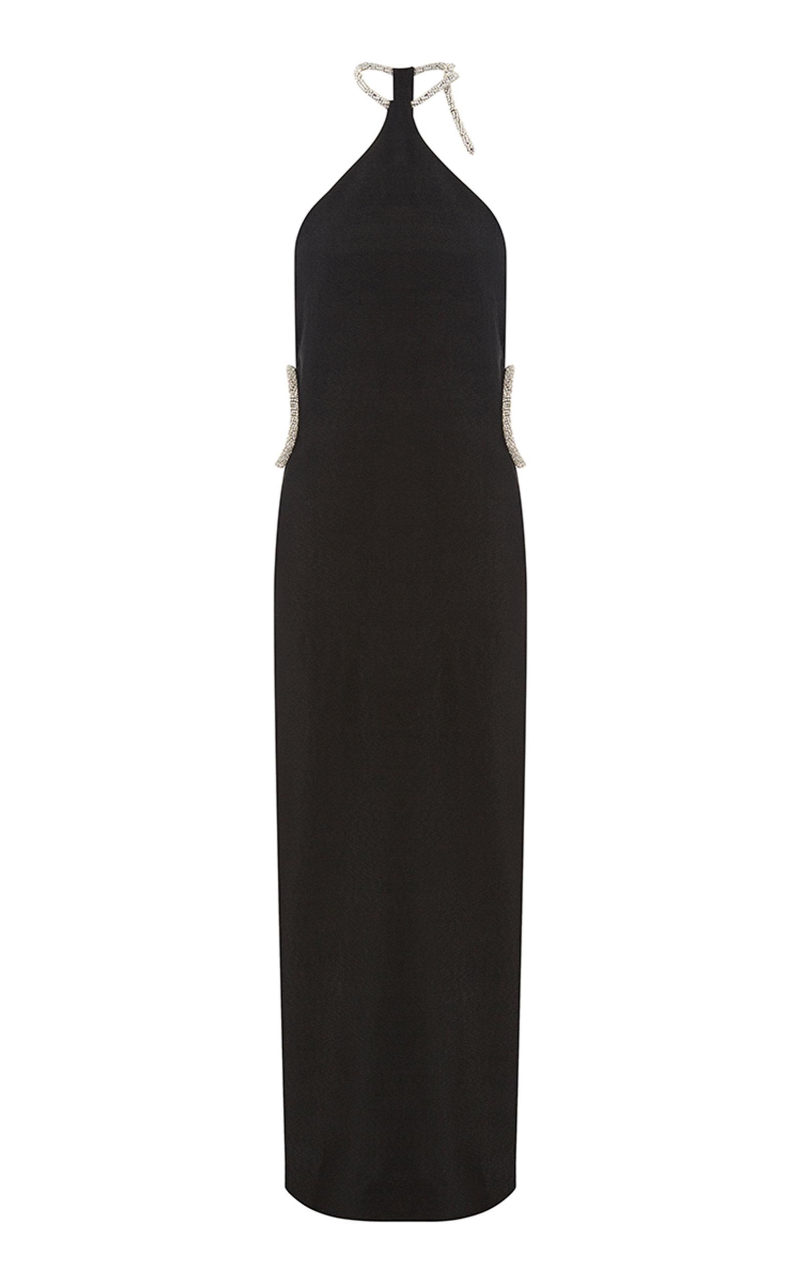 Buy Christopher Esber Crystal-Embellished Crepe Halterneck Dress online, shop Christopher Esber at the best price