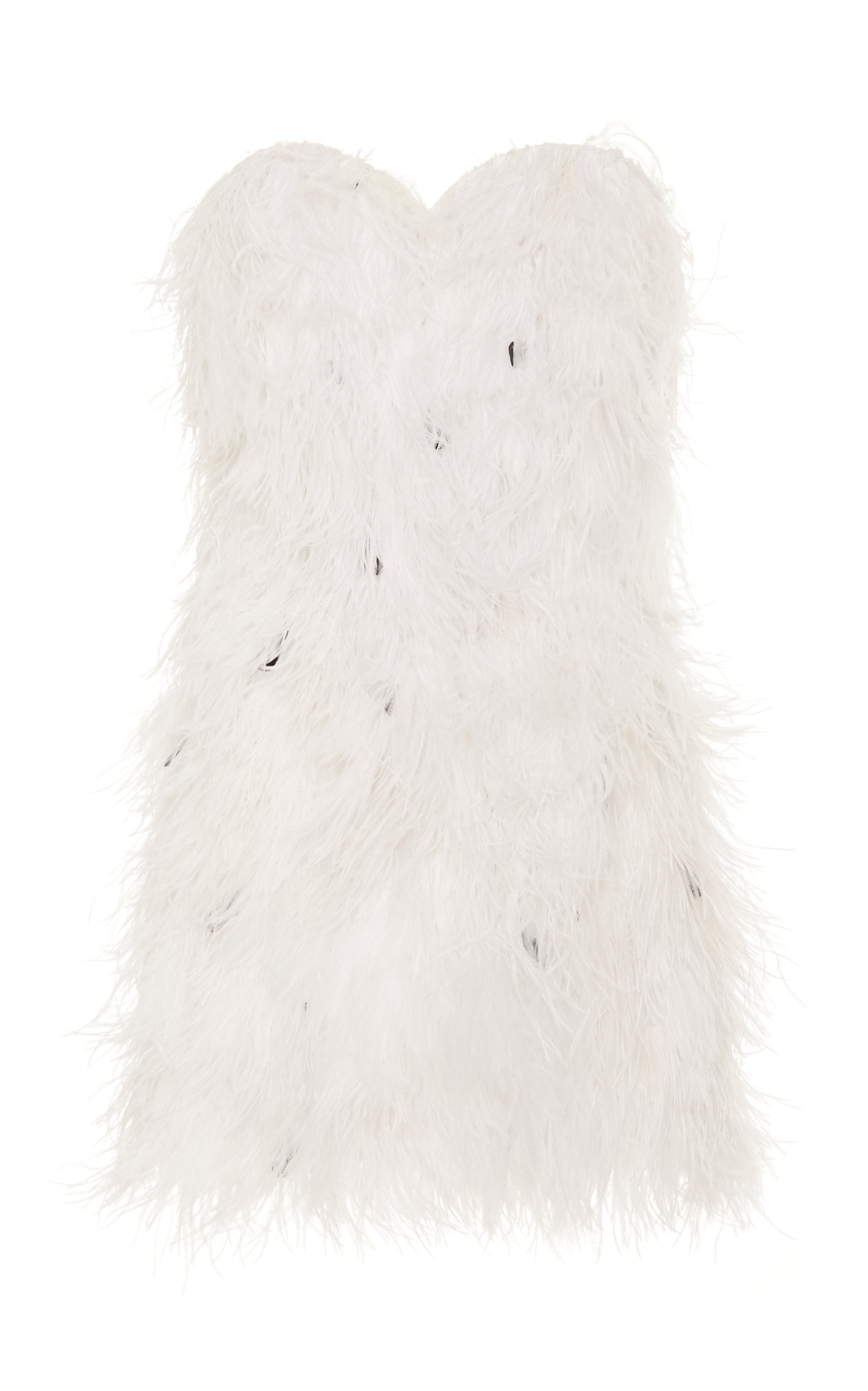 Buy Michael Lo Sordo Ostrich Feather-Embellished Stretch-Cotton Mini Dress online, shop Michael Lo Sordo at the best price