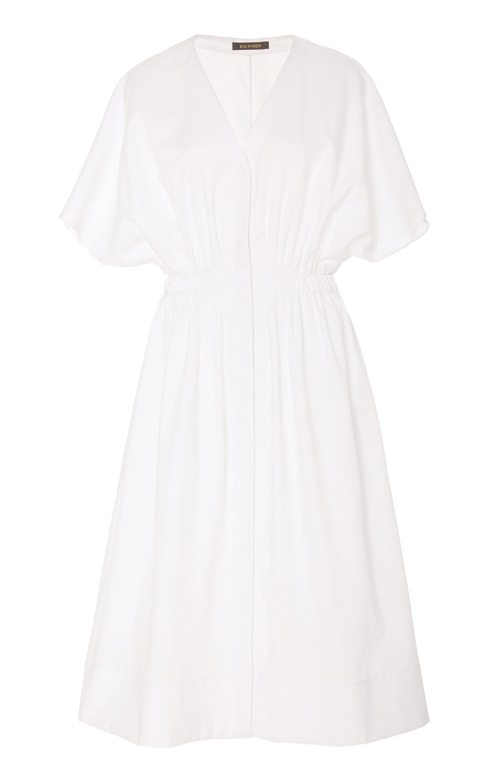 Buy Zac Posen Butterfly Sleeve Poplin Midi Dress online, shop Zac Posen at the best price