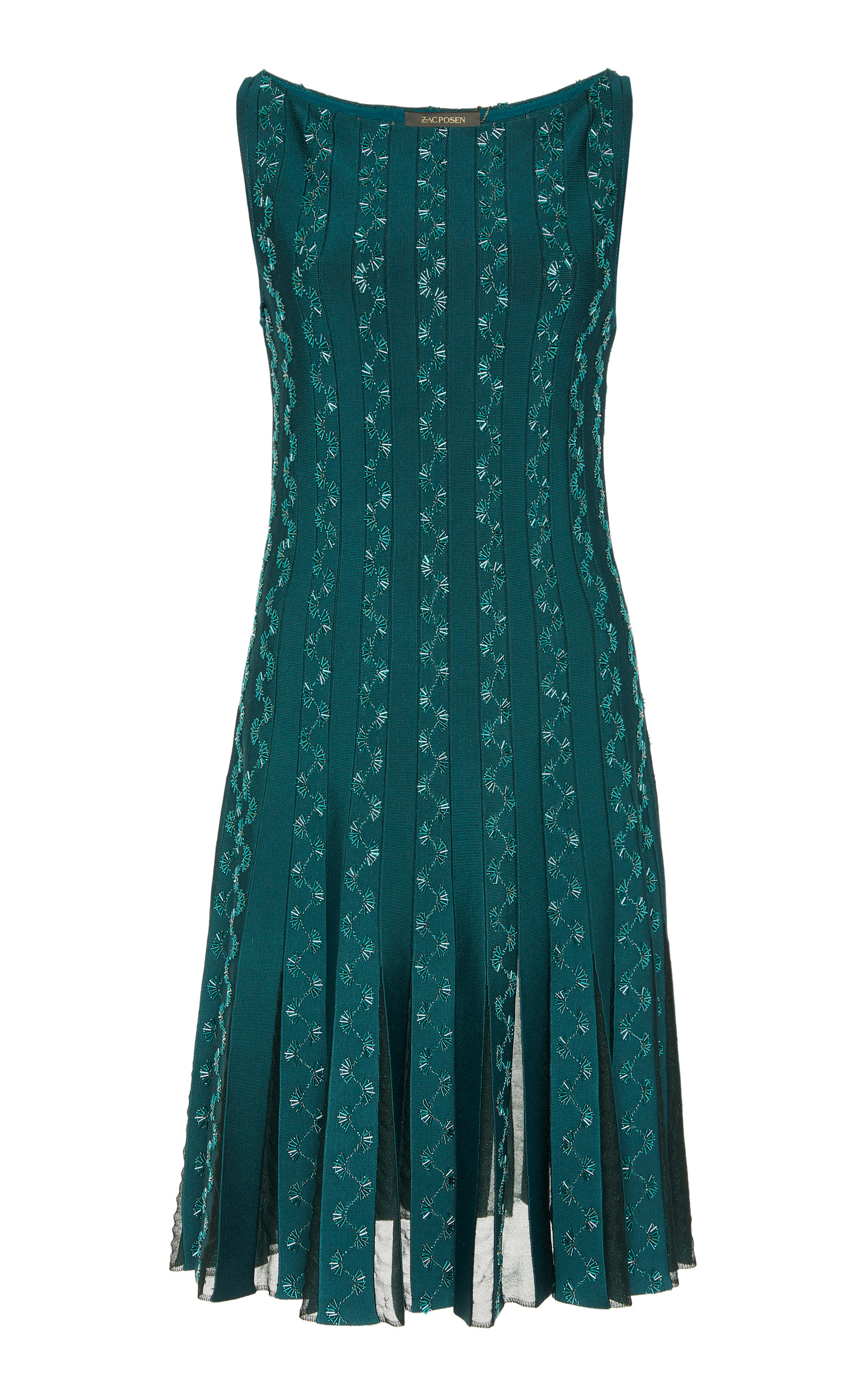 Buy Zac Posen Embroidered Lace-Panelled Mini Dress online, shop Zac Posen at the best price