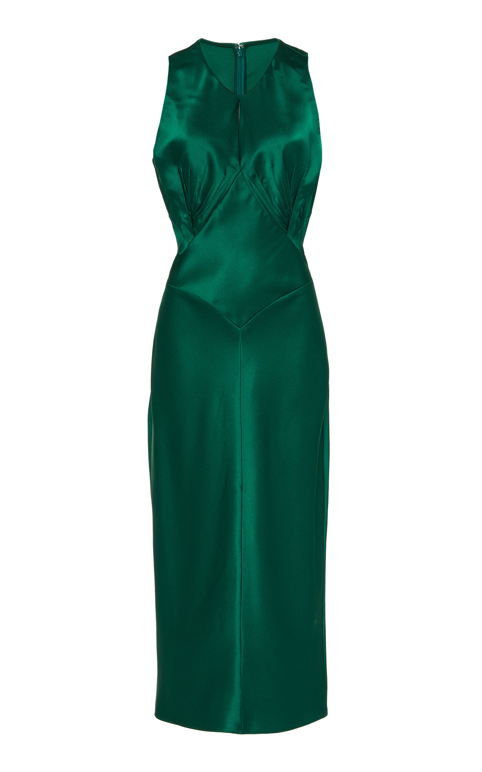 Buy Zac Posen Satin Sleeveless Midi Dress online, shop Zac Posen at the best price