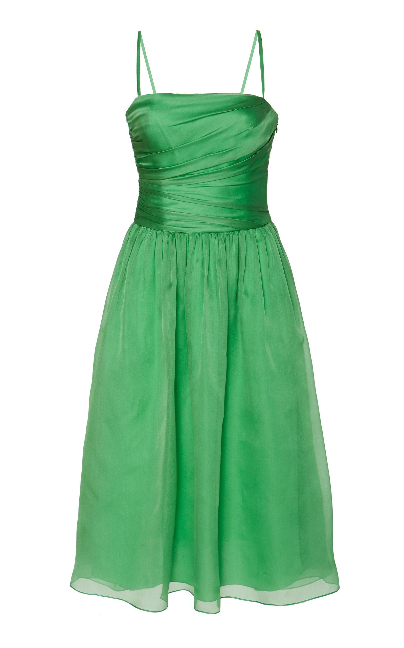 Buy Ralph Lauren Annora Draped Organza Midi Dress online, shop Ralph Lauren at the best price