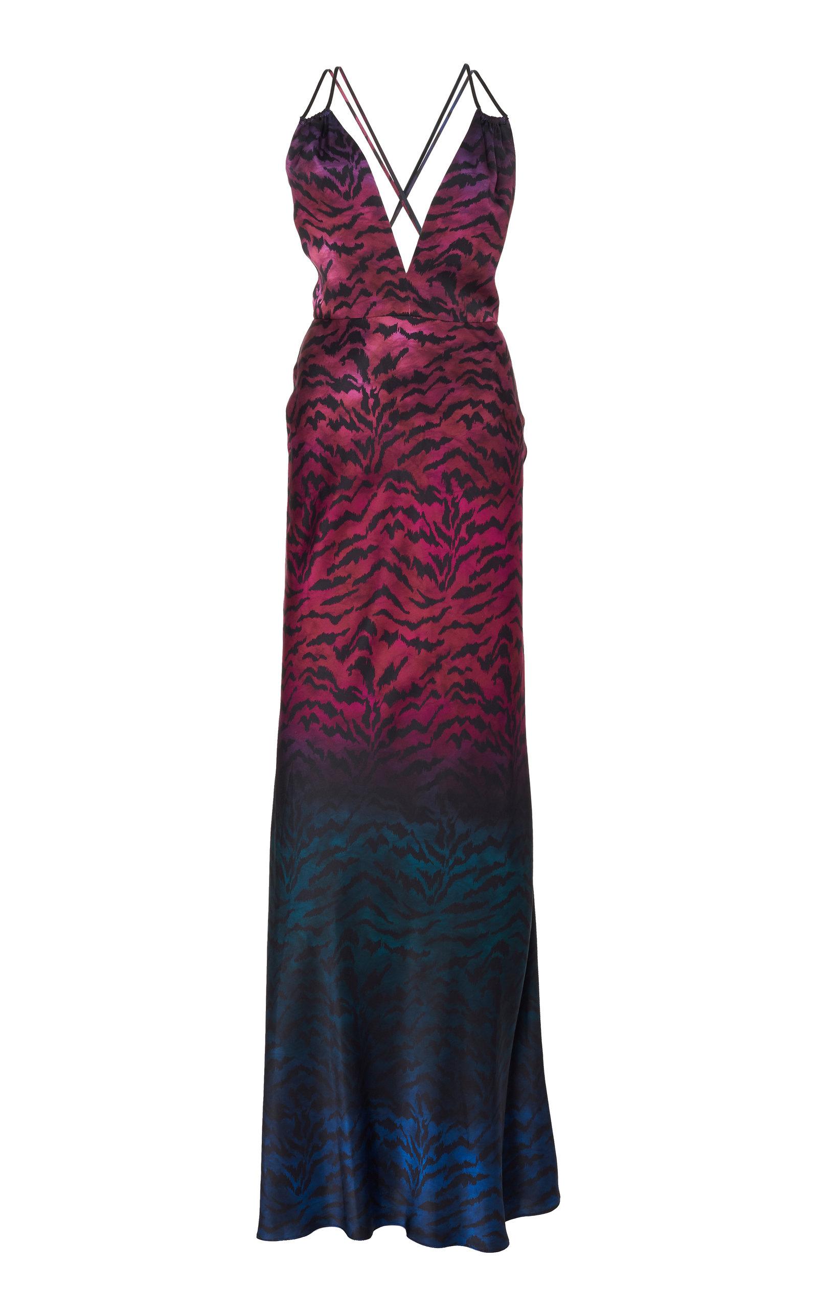 Buy Saloni Elektra Silk-Satin Gown online, shop Saloni at the best price