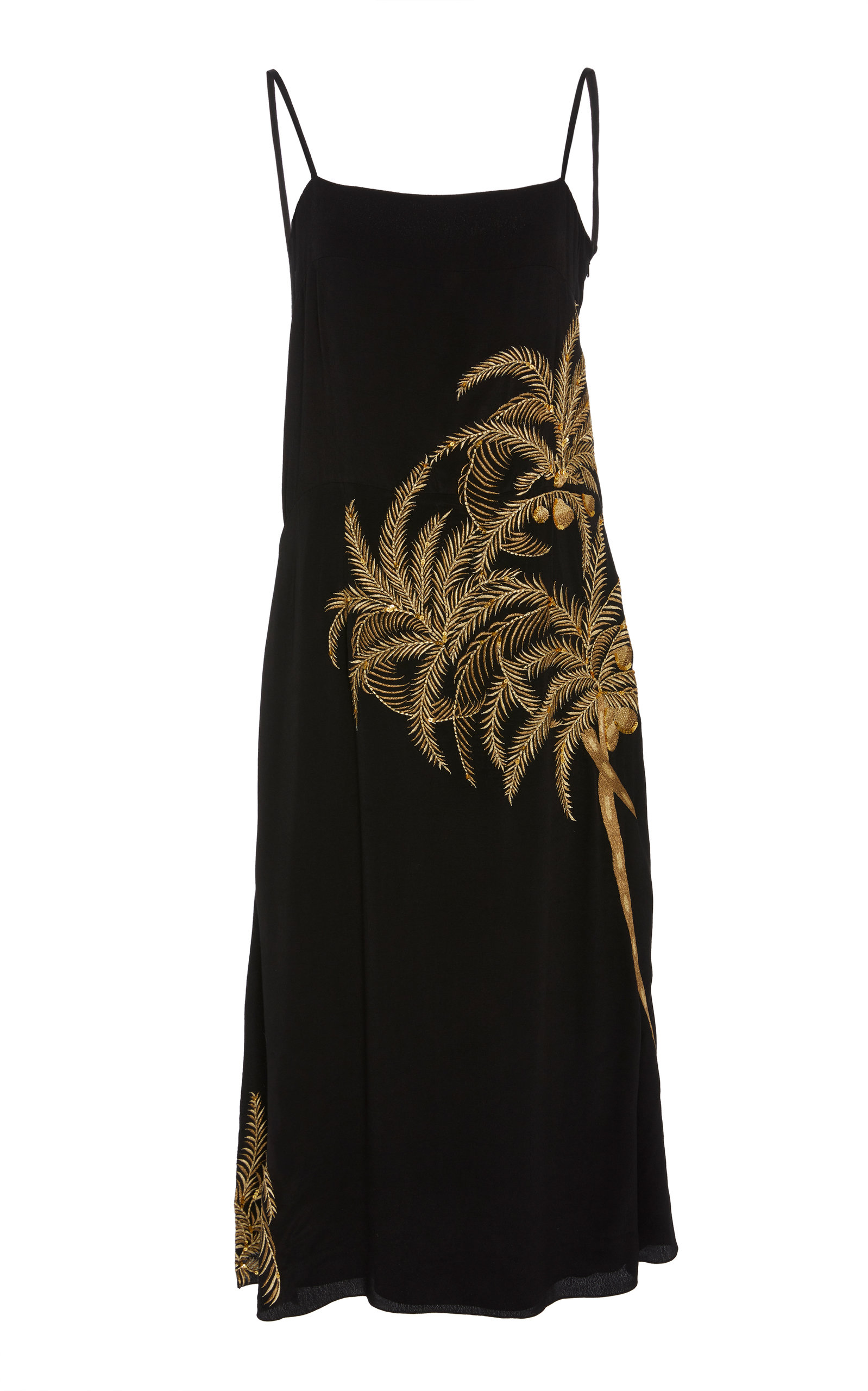 Buy Figue Olatz Embellished Embroidered Crepe De Chine Midi Dress online, shop Figue at the best price