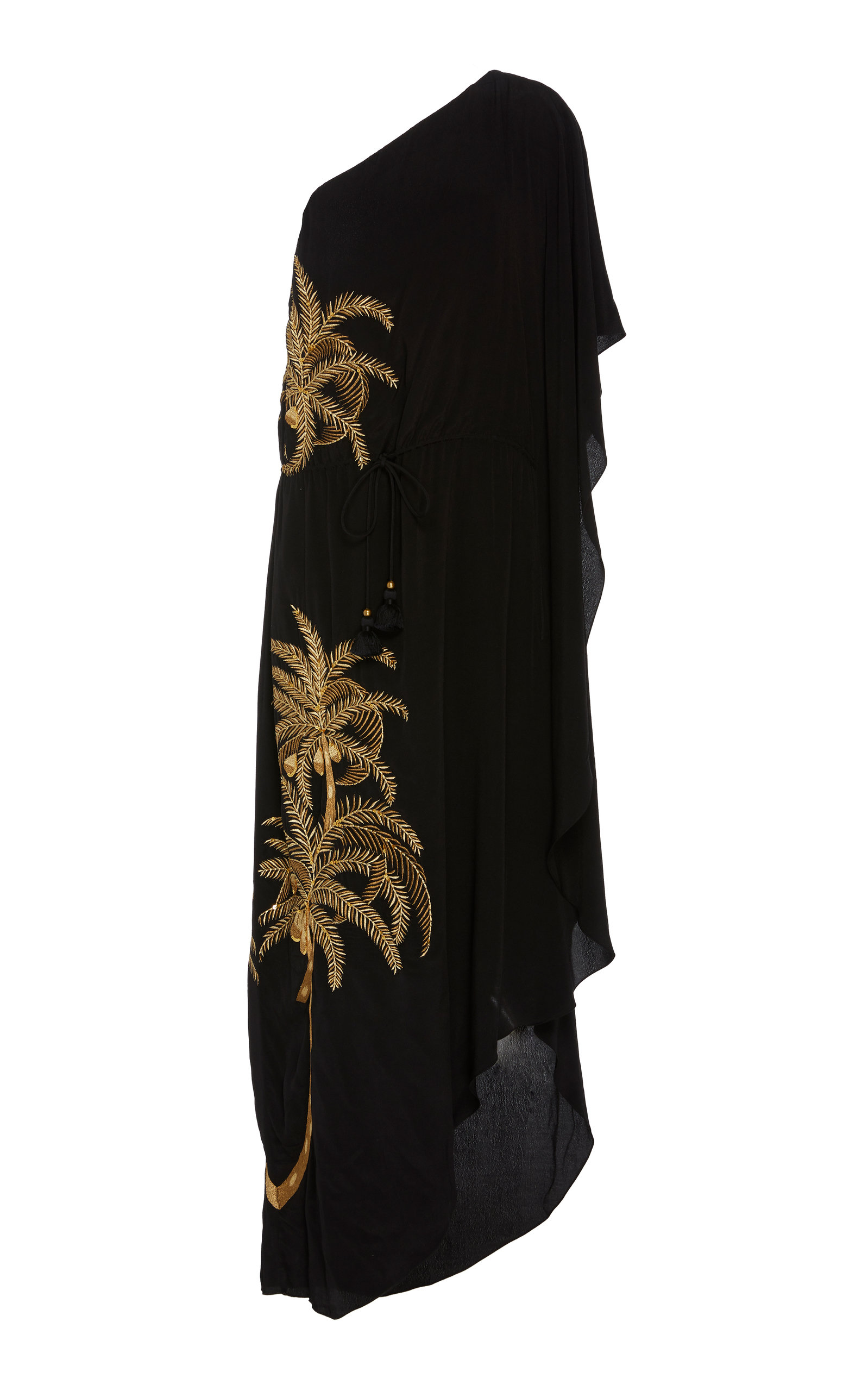 Buy Figue Maisie One-Shoulder Embroidered Crepe De Chine Dress online, shop Figue at the best price
