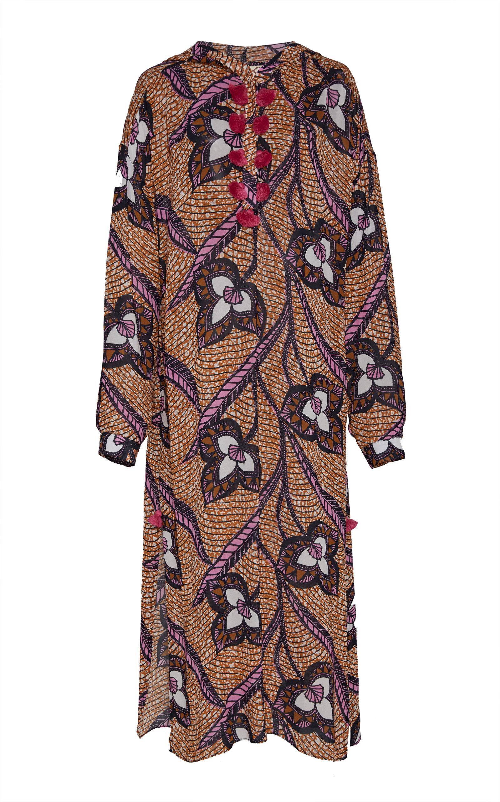 Buy Figue Ciara Hooded Printed Crepe Caftan online, shop Figue at the best price