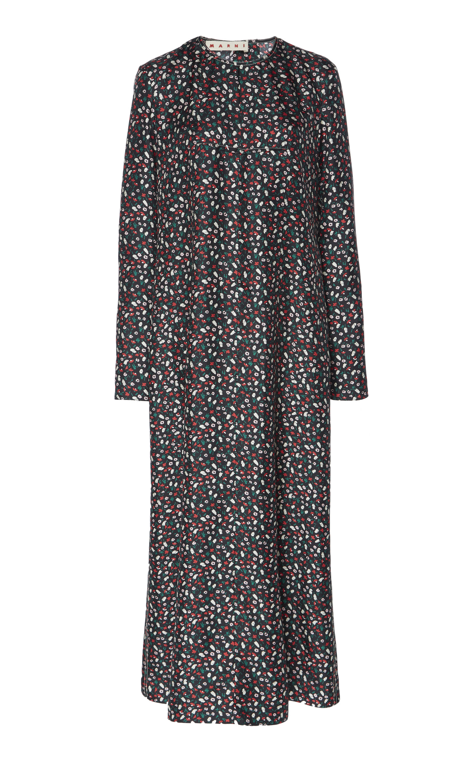 Buy Marni Micro Floral Print Silk Dress online, shop Marni at the best price