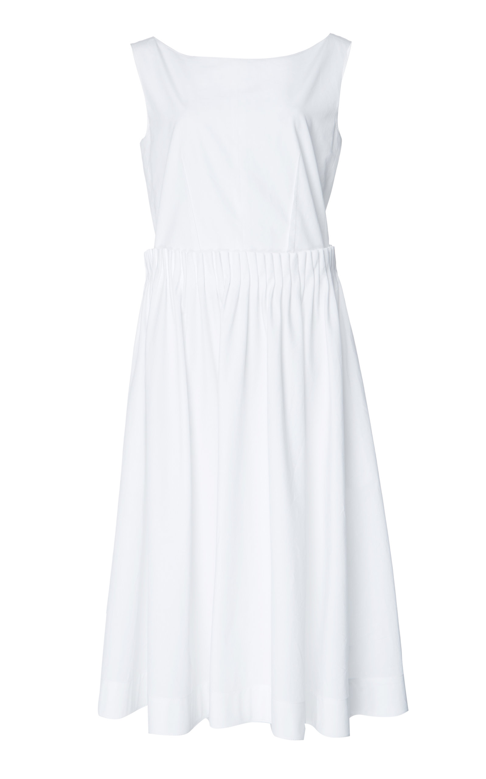 Buy Marni Pleated Cotton Midi Dress online, shop Marni at the best price
