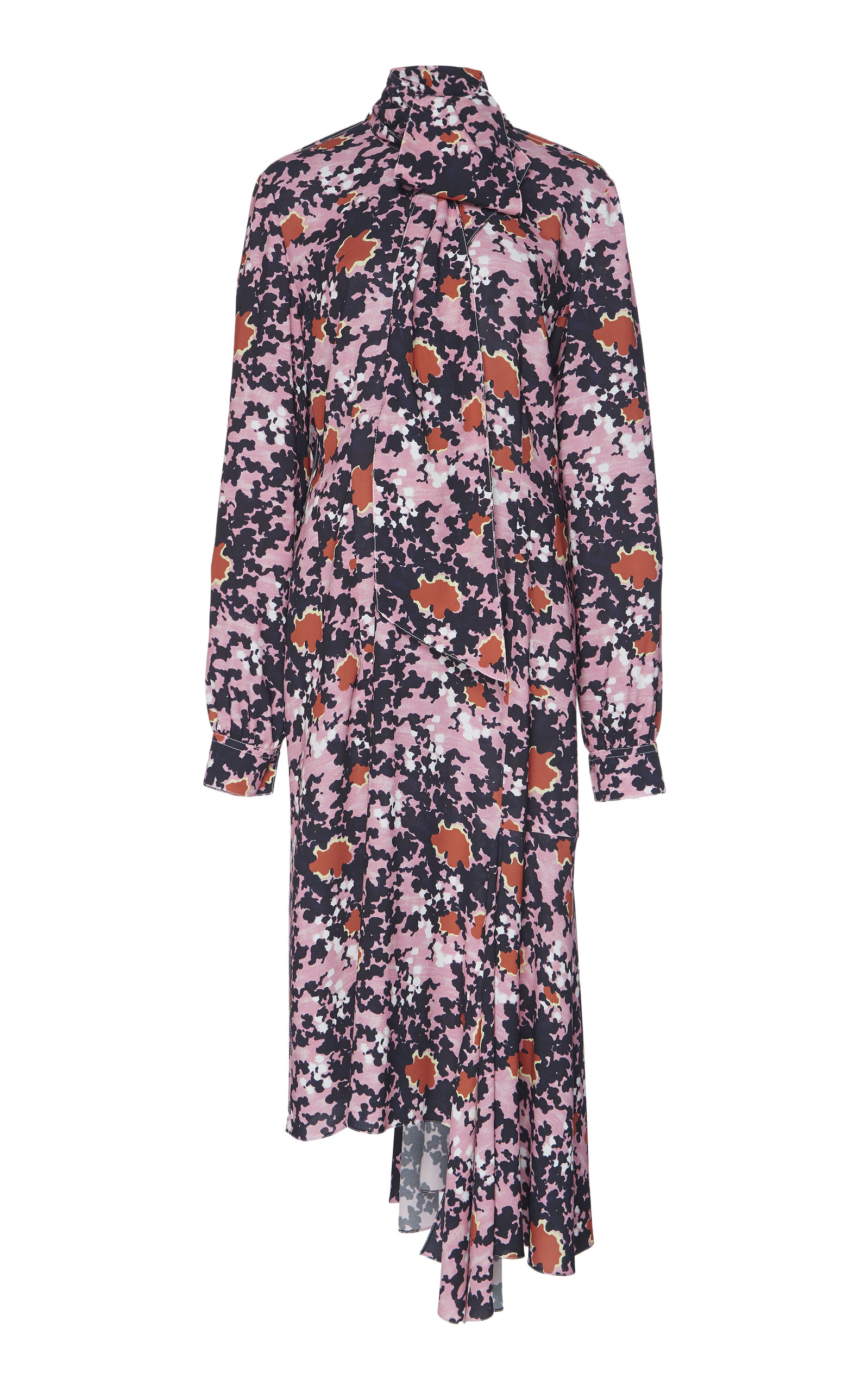 Buy Marni Asymmetric Floral Midi Dress online, shop Marni at the best price