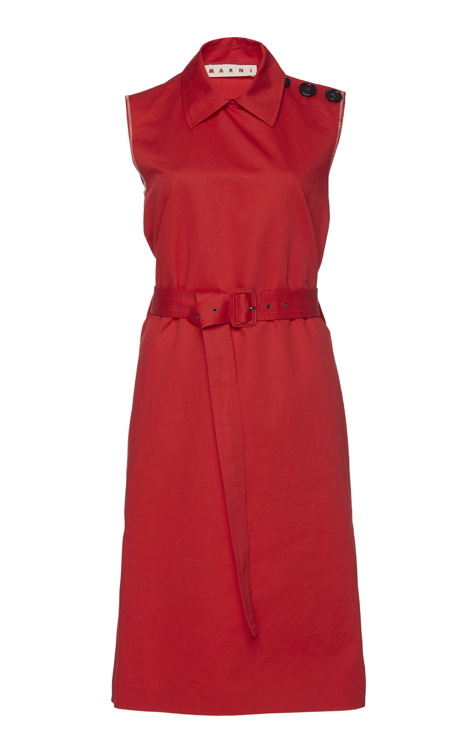 Buy Marni Belted Cotton Dress online, shop Marni at the best price