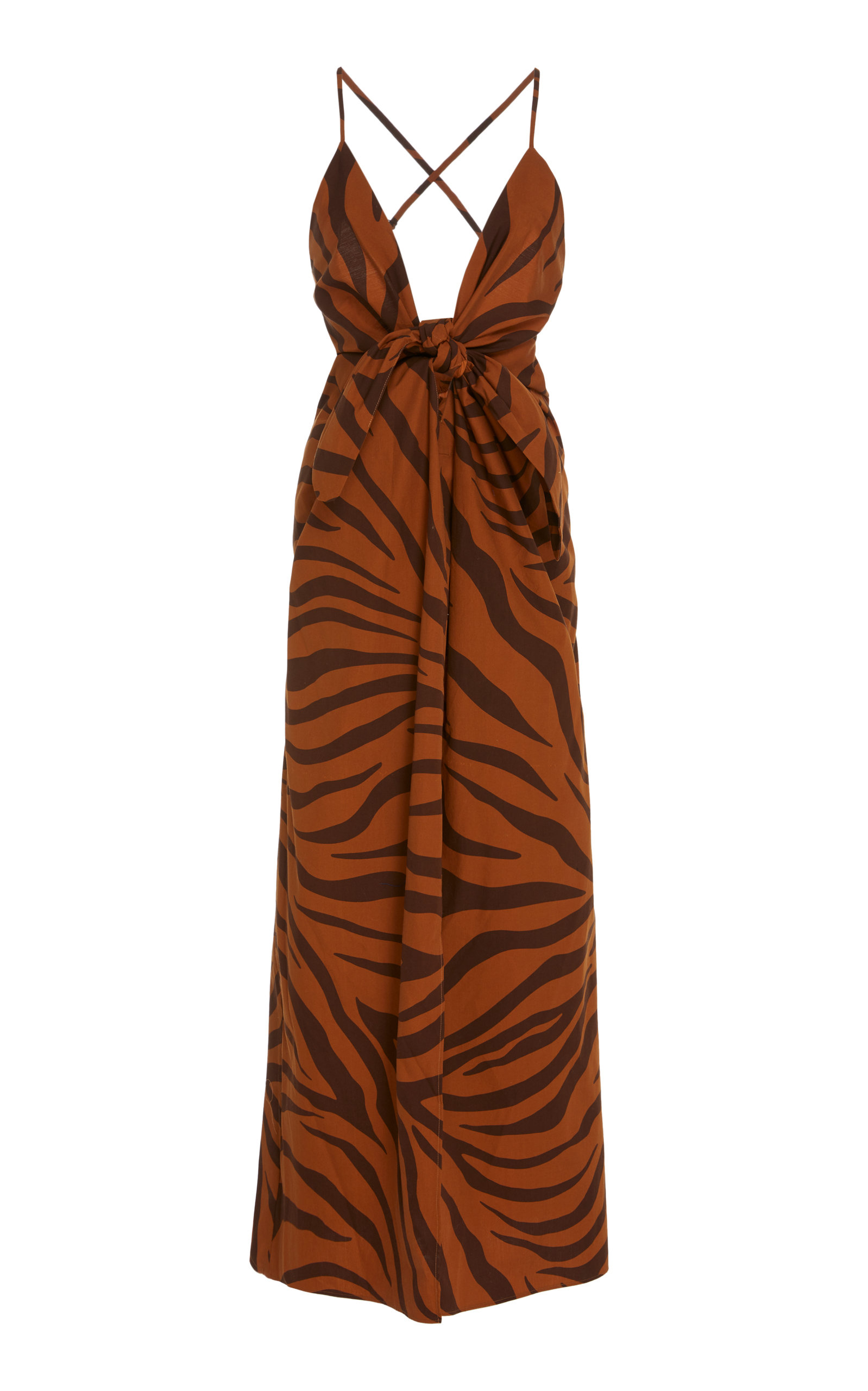 Buy Mara Hoffman Lolita Tiger Print Cotton Maxi Dress online, shop Mara Hoffman at the best price
