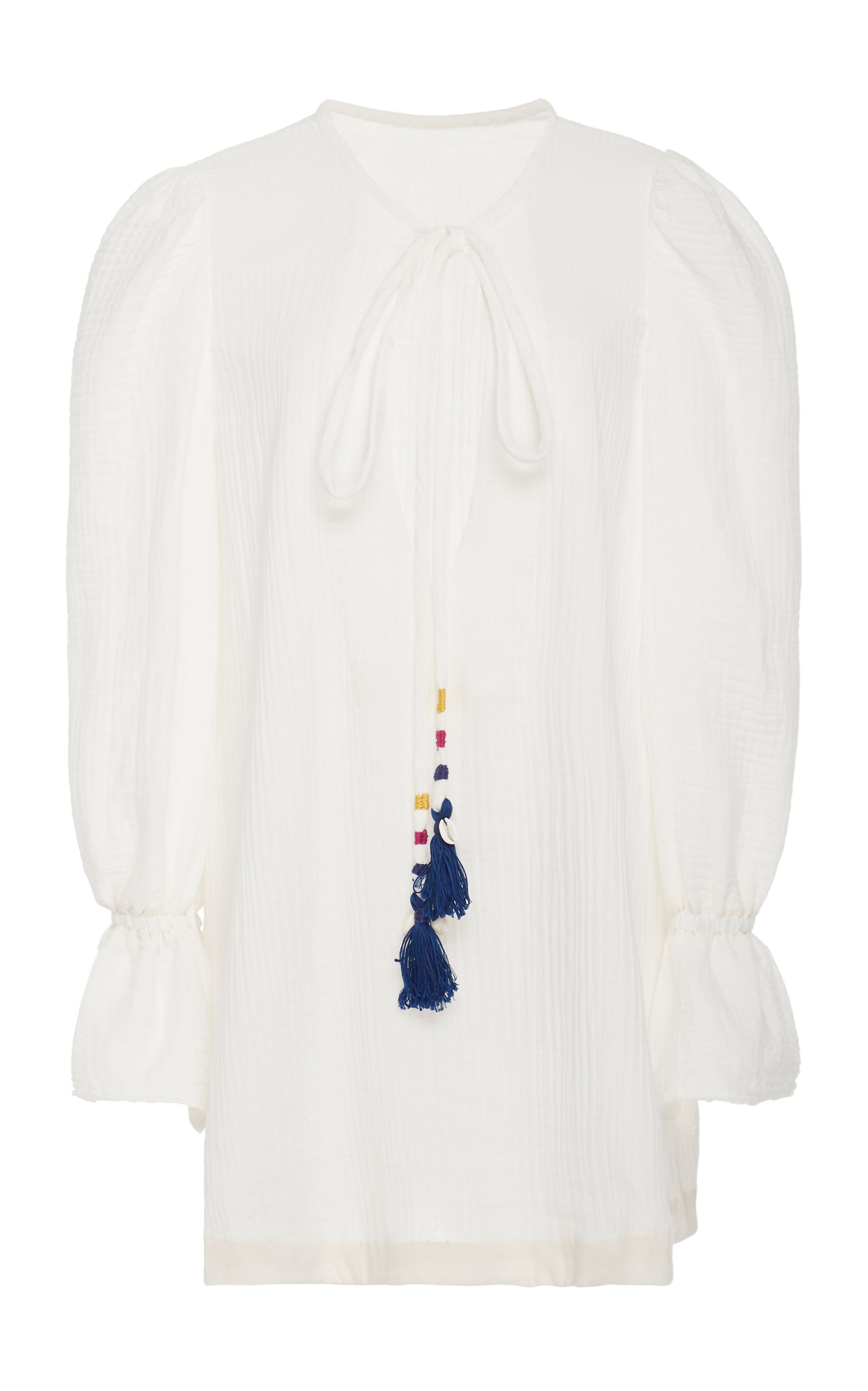 Buy Alix of Bohemia LouLou Tasseled Textured-Cotton Dress online, shop Alix of Bohemia at the best price