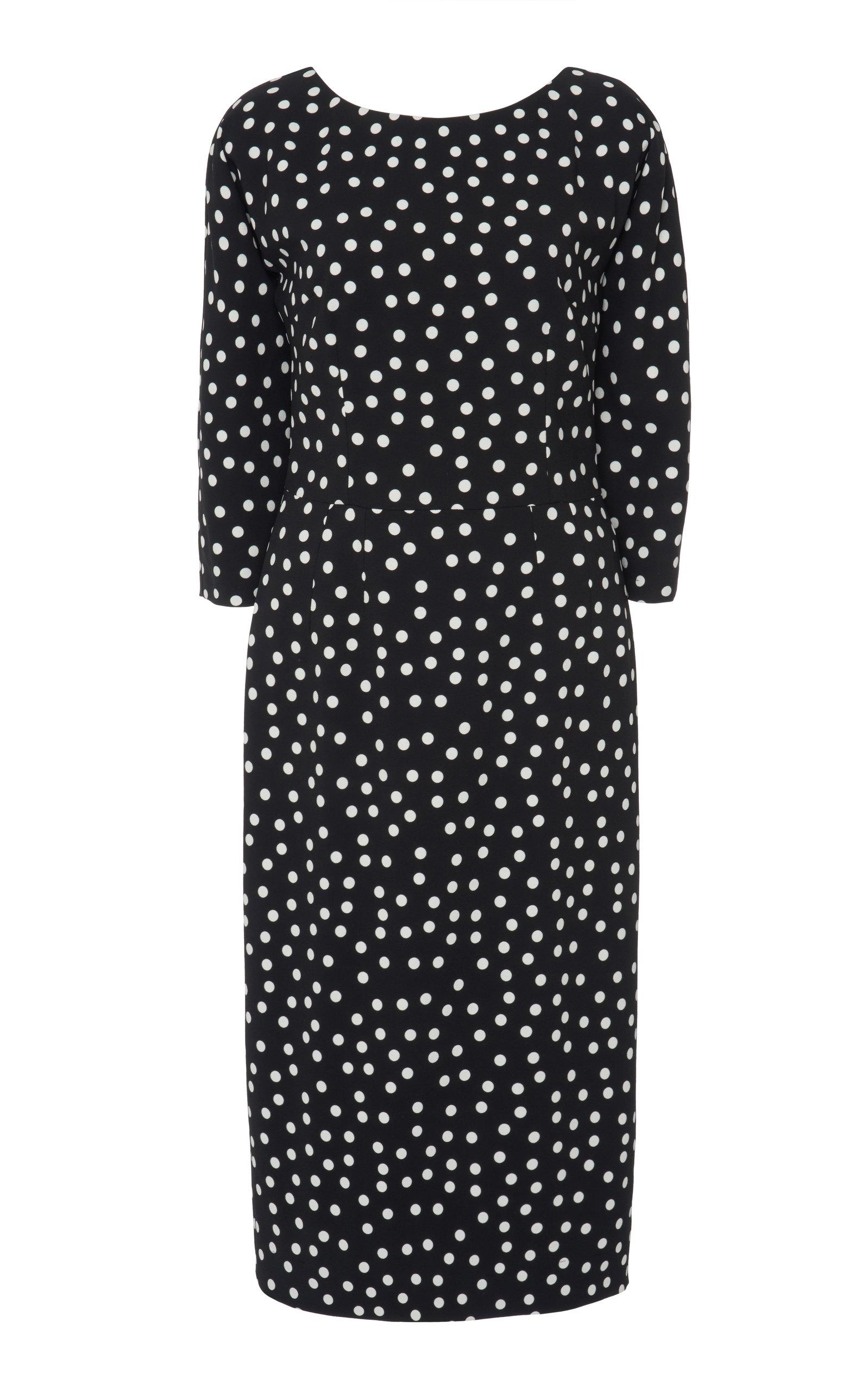 Buy Dolce & Gabbana Polka-Dot Stretch-Crepe Midi Dress online, shop Dolce & Gabbana at the best price