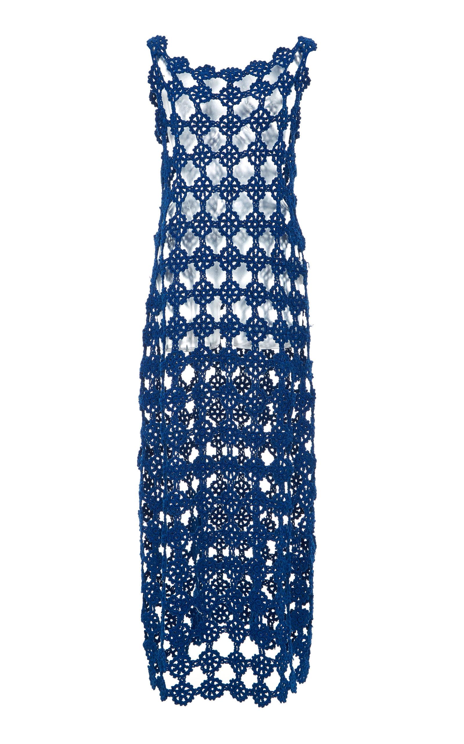 Buy Jil Sander Open Knit Midi Dress online, shop Jil Sander at the best price
