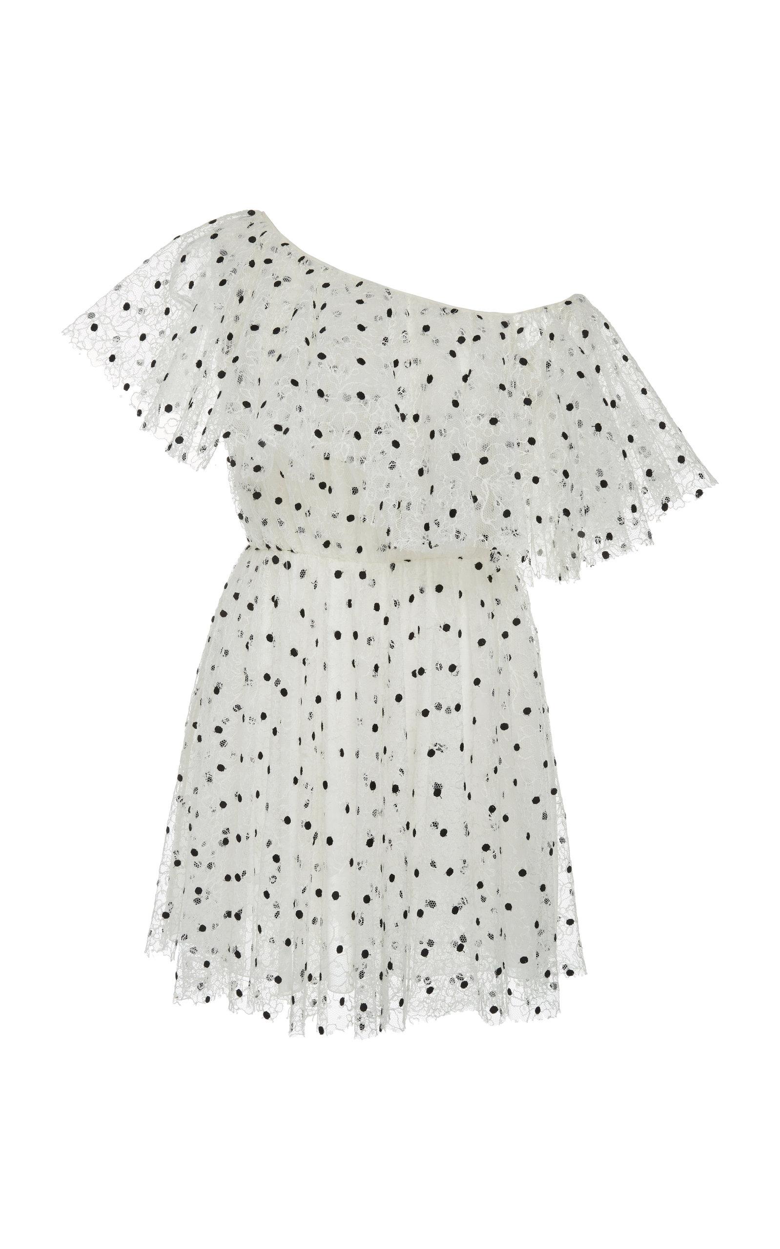 Buy Giambattista Valli Polka-Dot Off-The-Shoulder Tulle Mini Dress online, shop Giambattista Valli at the best price