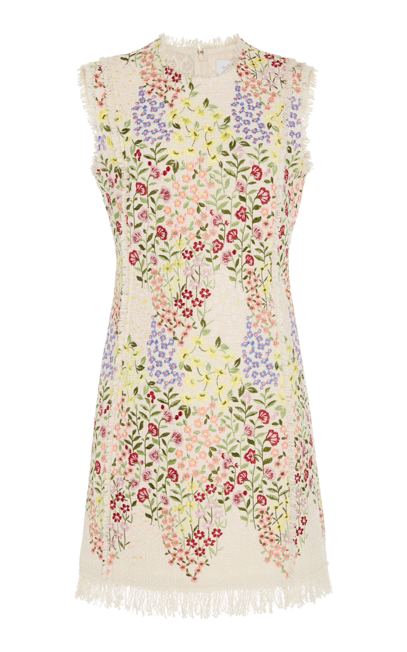 Buy Giambattista Valli Frayed Floral Jacquard Mini Dress online, shop Giambattista Valli at the best price