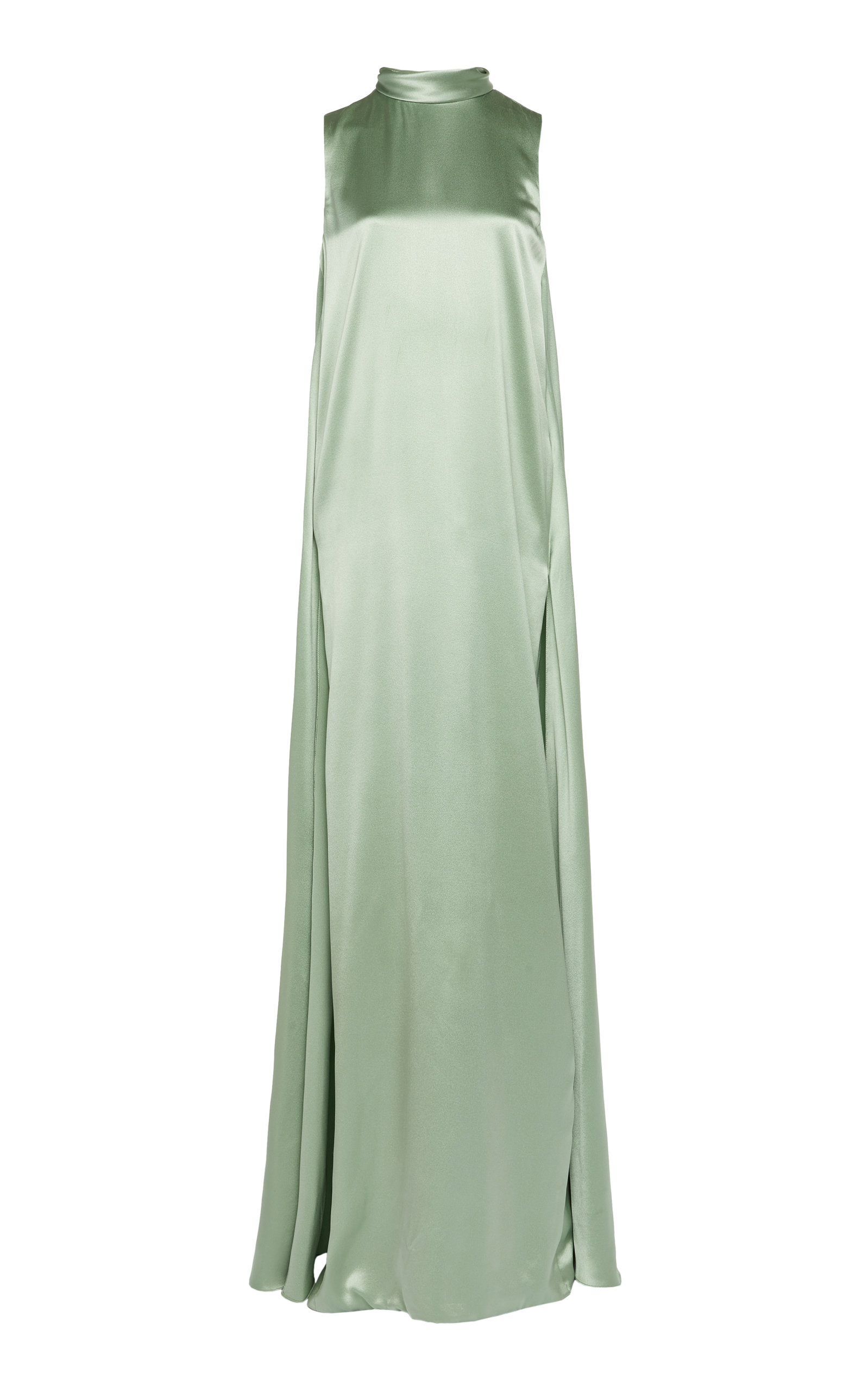 Buy Brandon Maxwell Tie-Detailed Silk-Satin Gown online, shop Brandon Maxwell at the best price