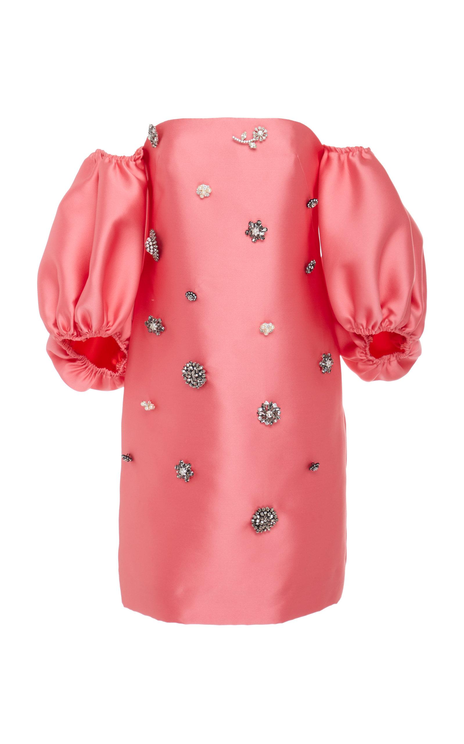 Buy Lela Rose Drop-Shoulder Embellished Taffeta Mini Dress online, shop Lela Rose at the best price