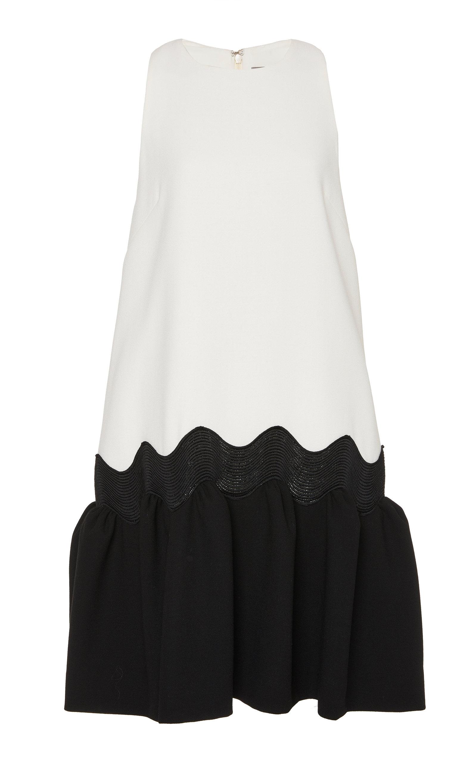 Buy Lela Rose Wave Color-Blocked Wool-Blend Peplum Dress online, shop Lela Rose at the best price