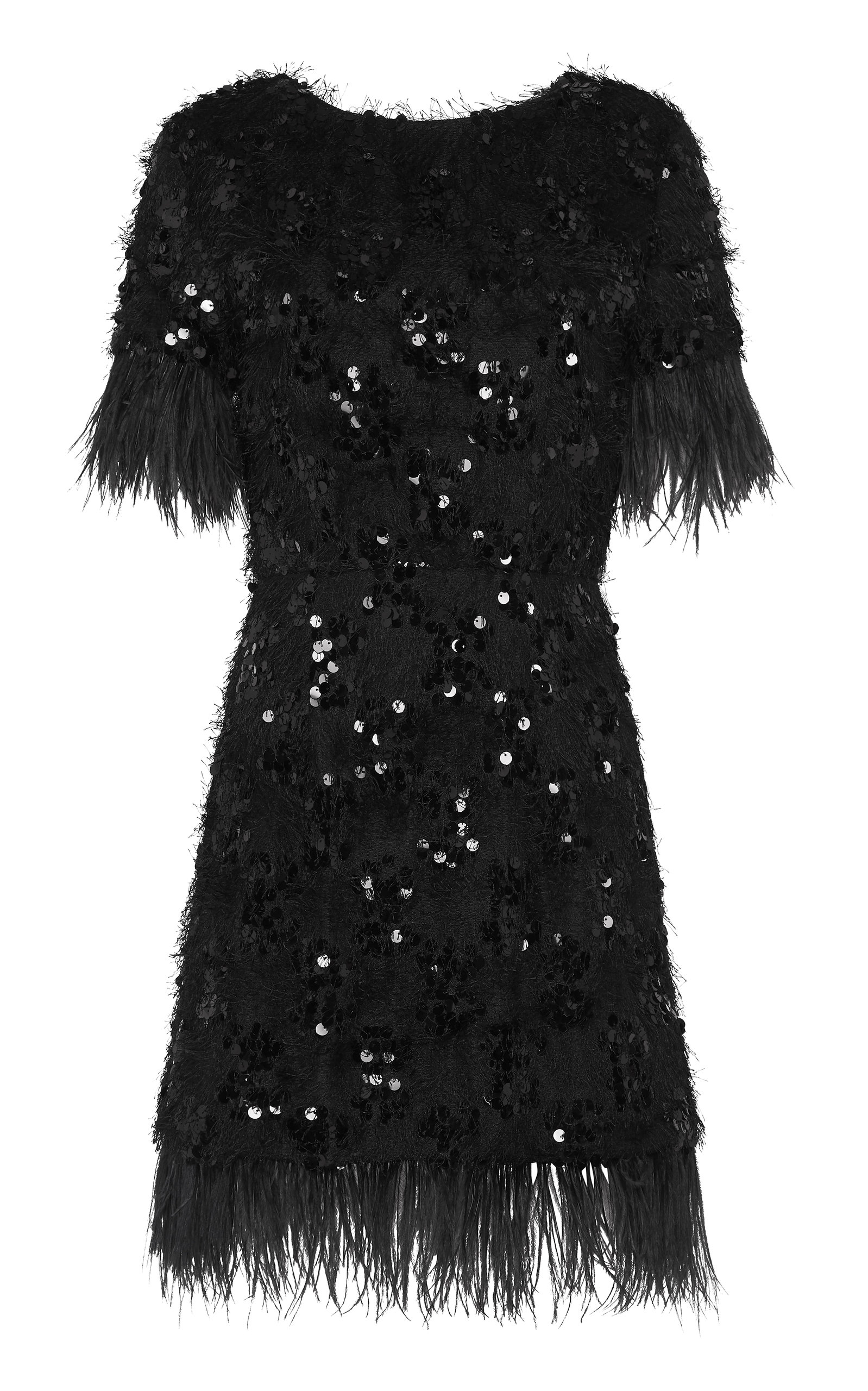 Buy macgraw Nocturnal Sequined And Feather-Trim Dress online, shop macgraw at the best price