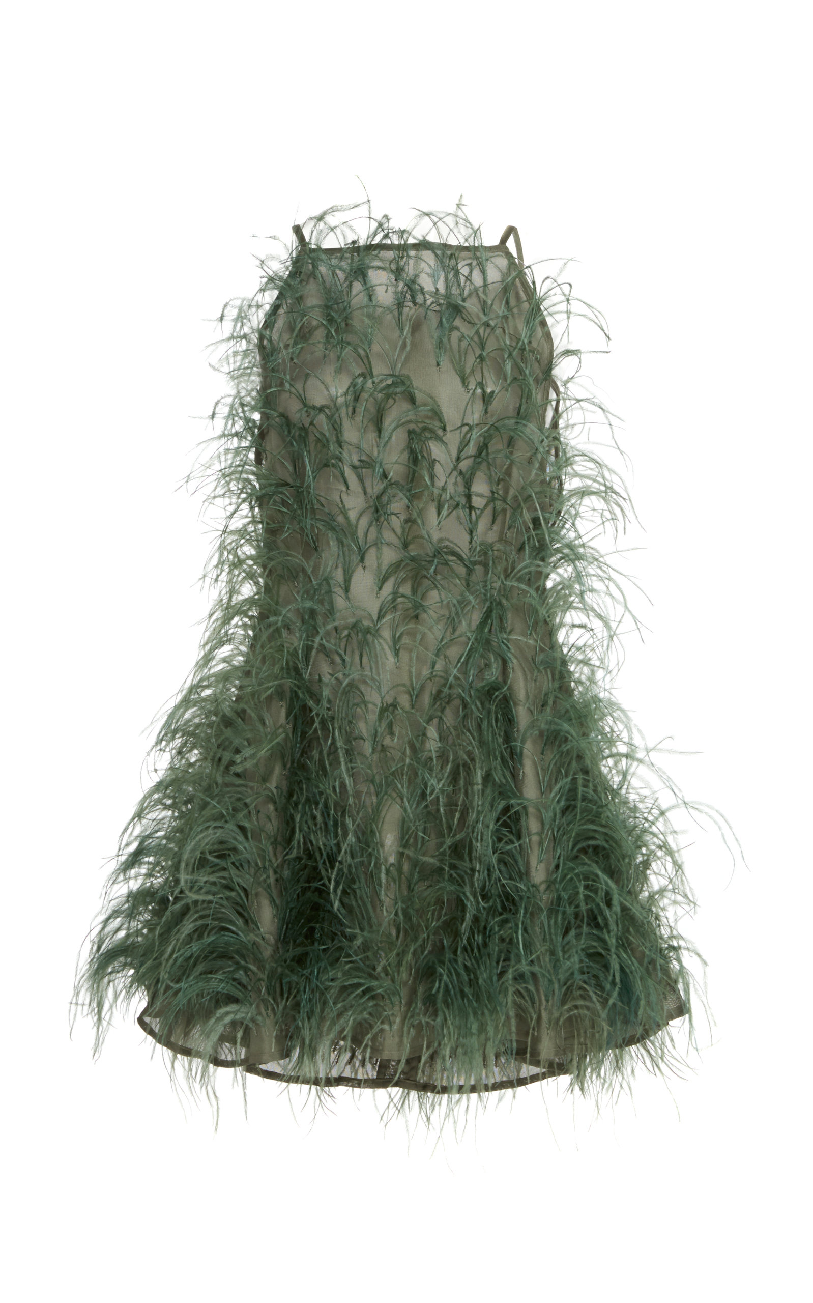 Buy Cult Gaia Shannon Feather-Embellished Silk-Tulle Mini Dress online, shop Cult Gaia at the best price