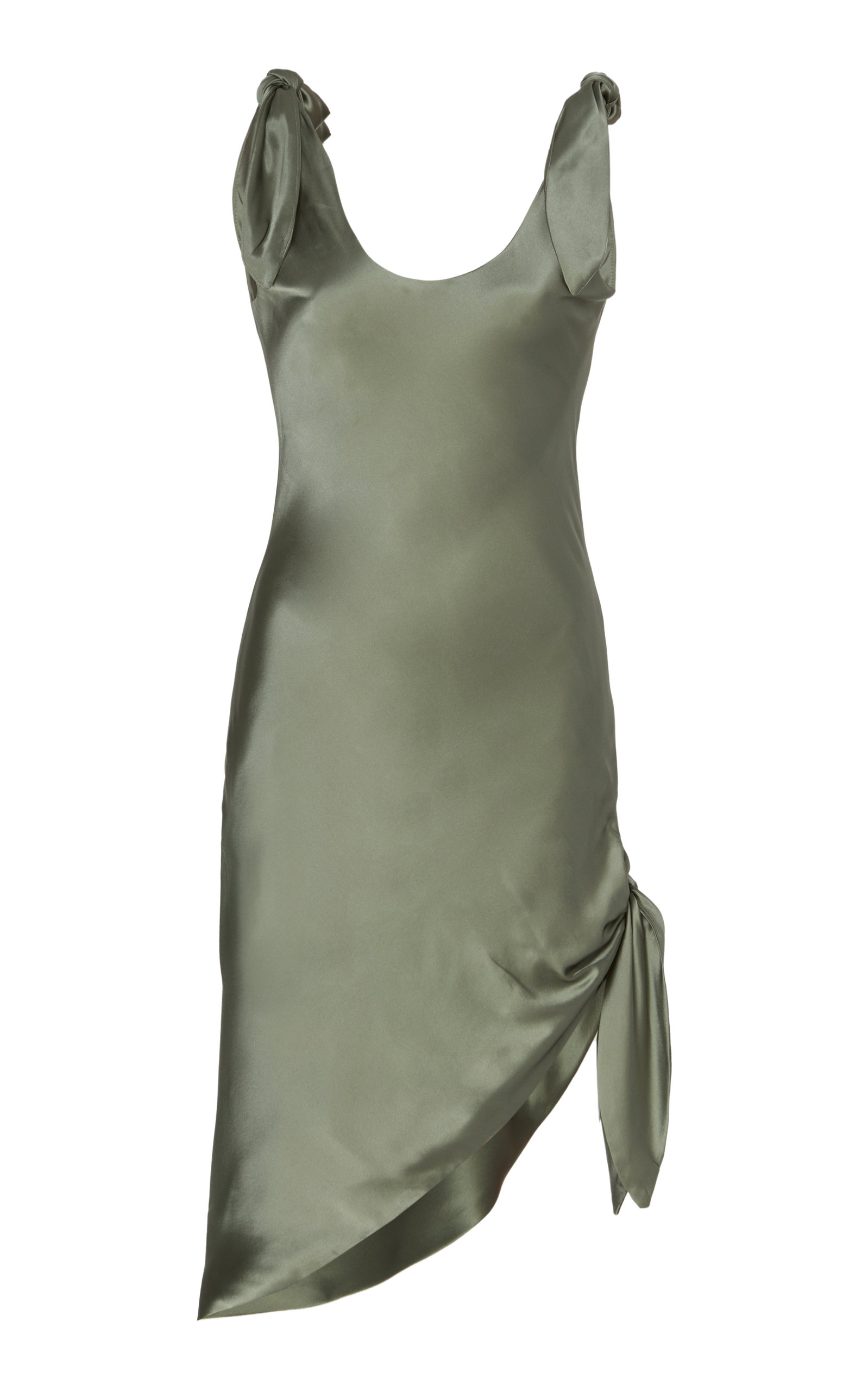 Buy Cult Gaia Delilah Tie-Detailed Silk-Satin Mini Dress online, shop Cult Gaia at the best price