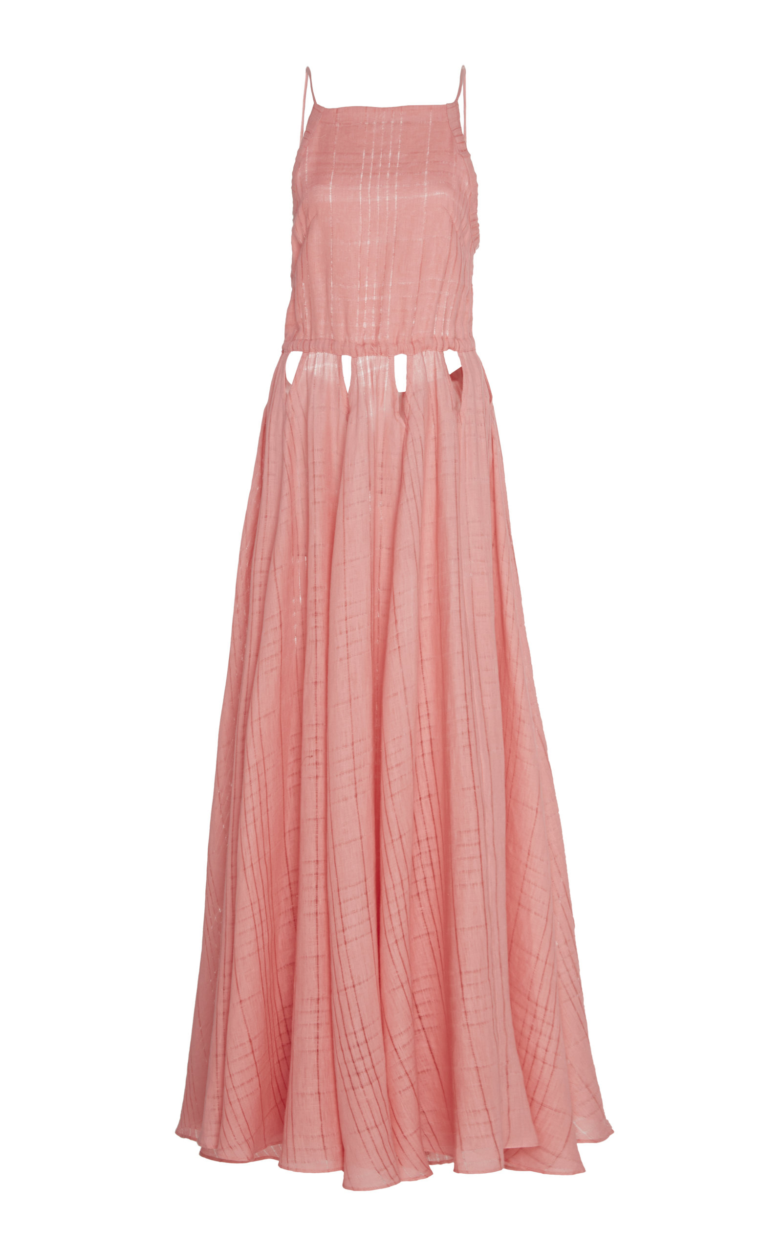 Buy Cult Gaia Bella Cutout Checked Linen Maxi Dress online, shop Cult Gaia at the best price