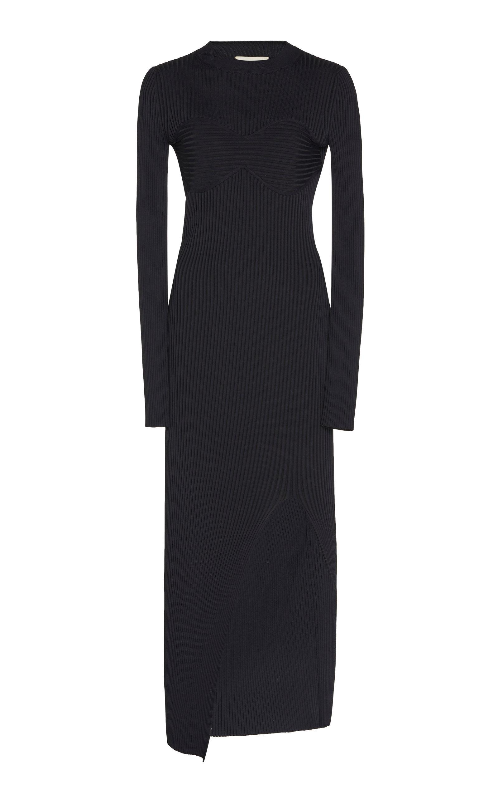 Buy Khaite Evlynne Ribbed-Knit Cotton Dress online, shop Khaite at the best price