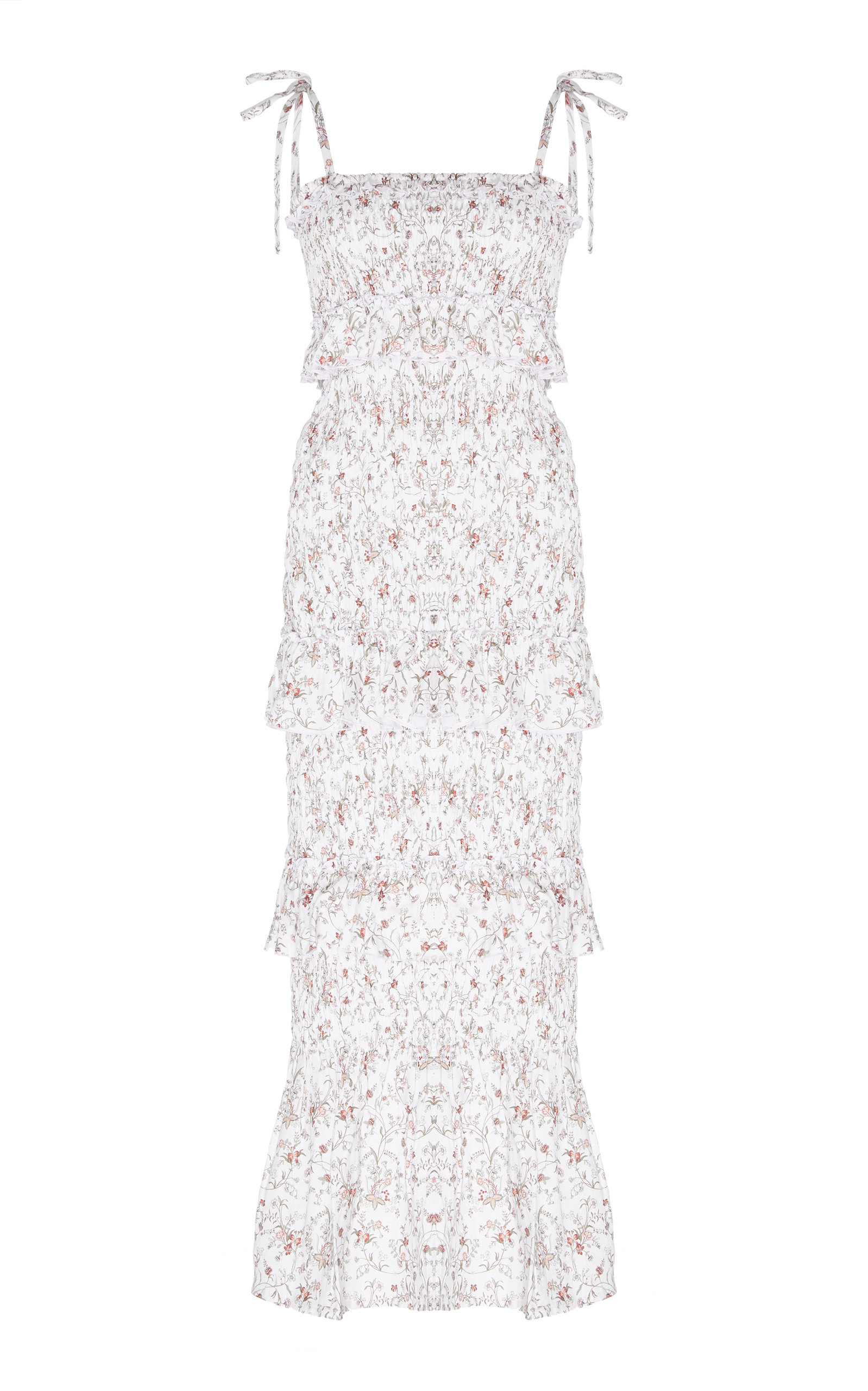 Buy Sir The Label Halsey Smocked Floral-Print Linen Midi Dress online, shop Sir The Label at the best price