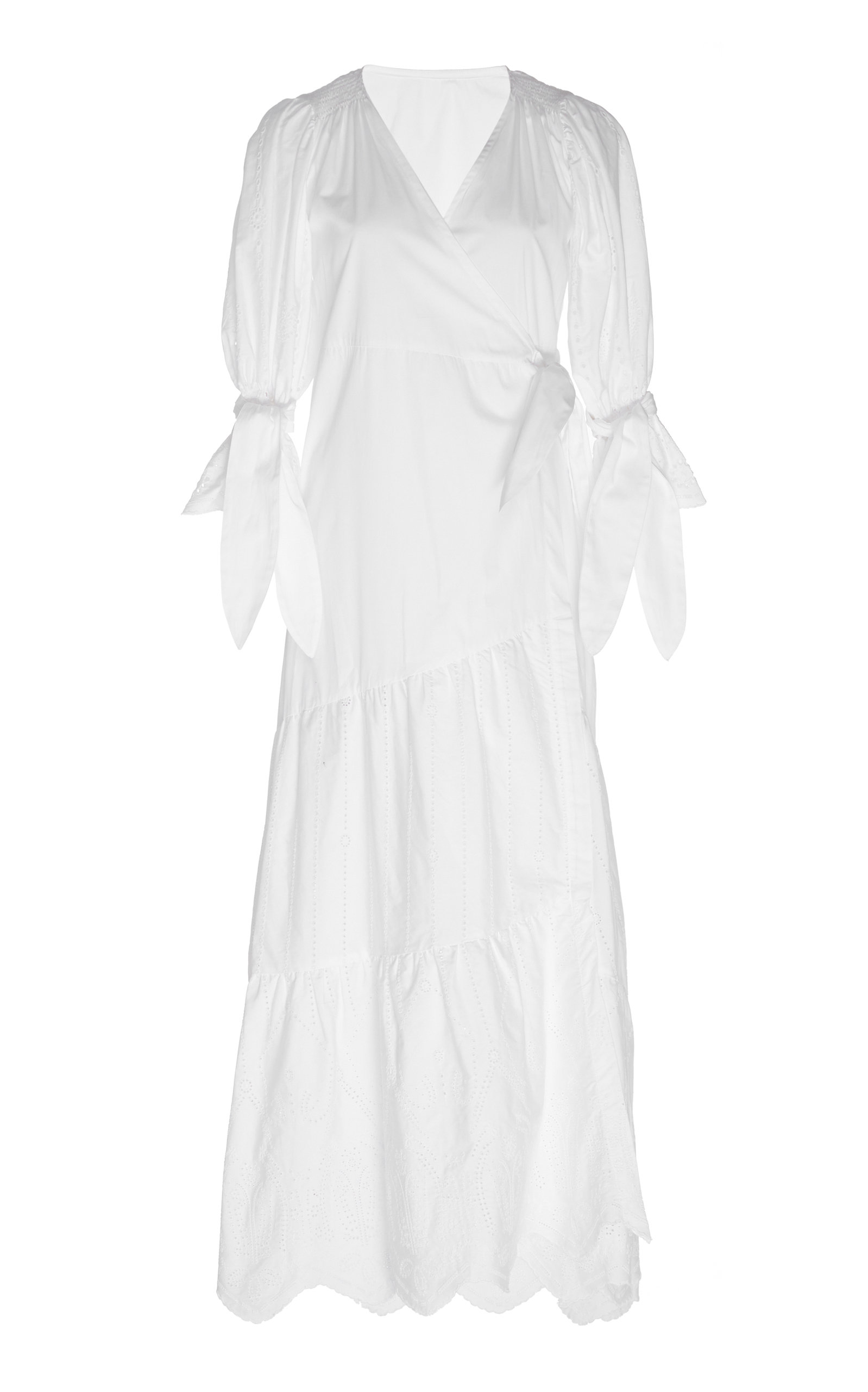 Buy Sir The Label Delilah Wrap-Effect Cotton-Poplin Midi Dress online, shop Sir The Label at the best price