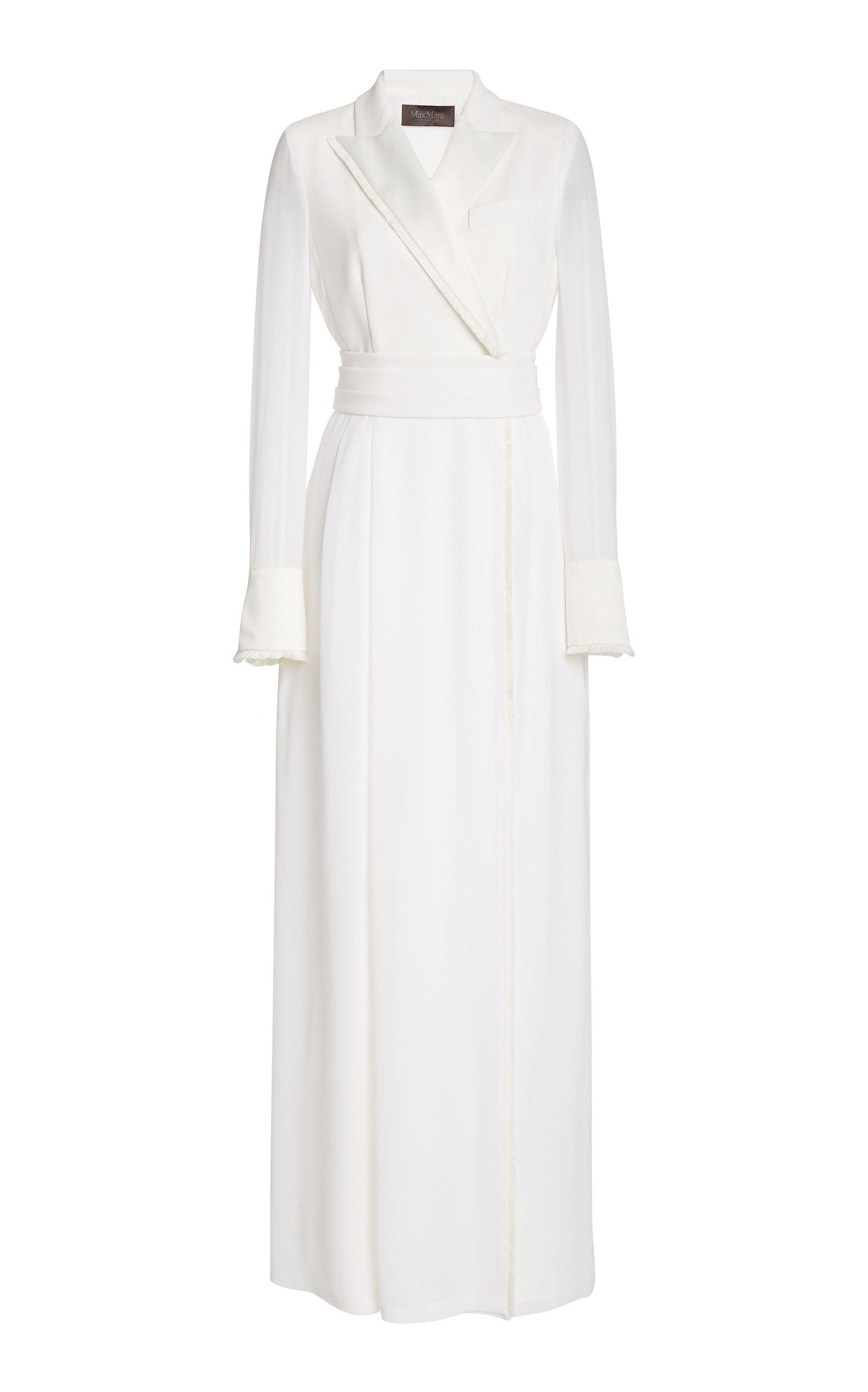 Buy Max Mara Gemma Crepe And Chiffon Dress online, shop Max Mara at the best price