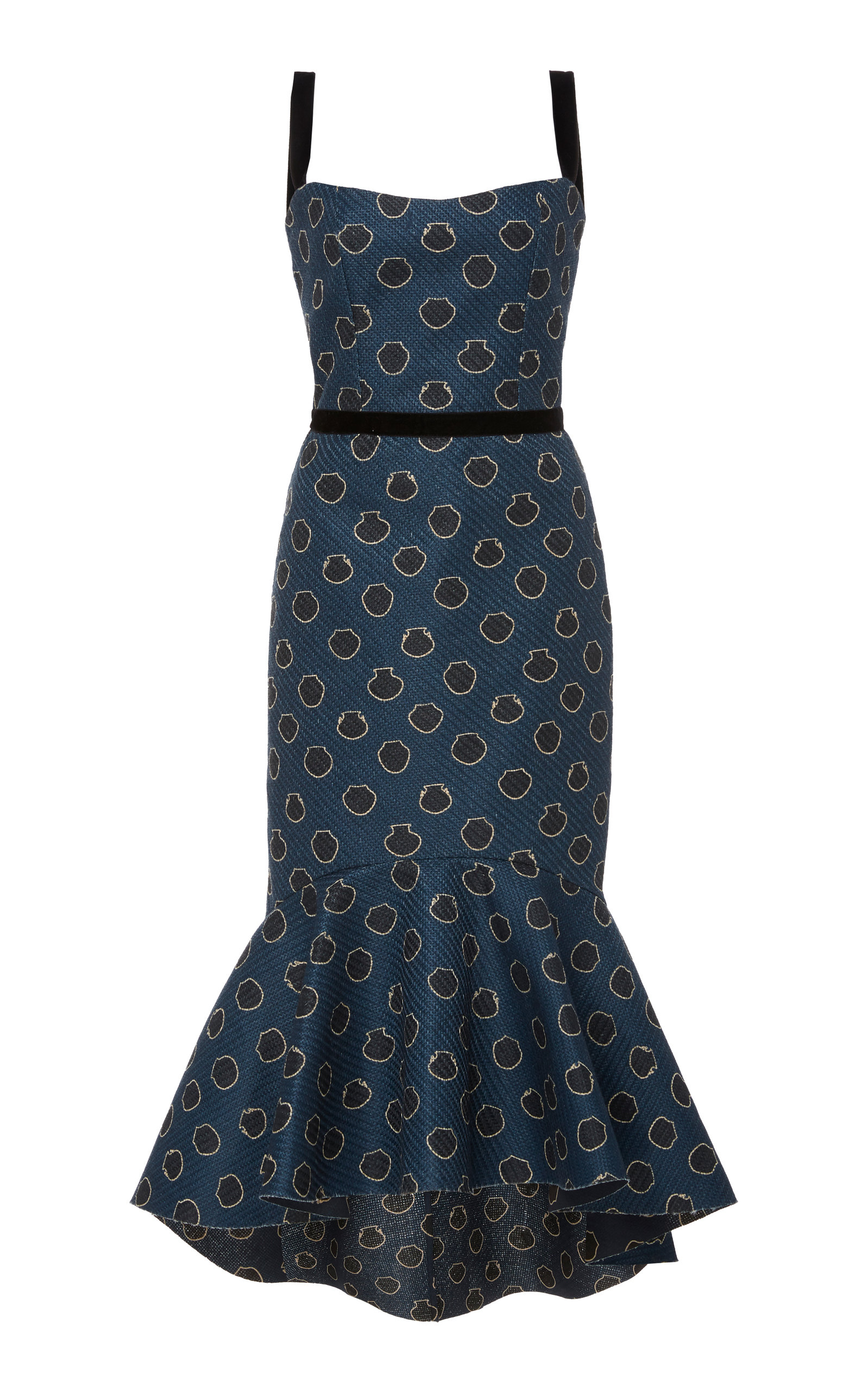 Buy Johanna Ortiz Printed Canvas Midi Dress online, shop Johanna Ortiz at the best price