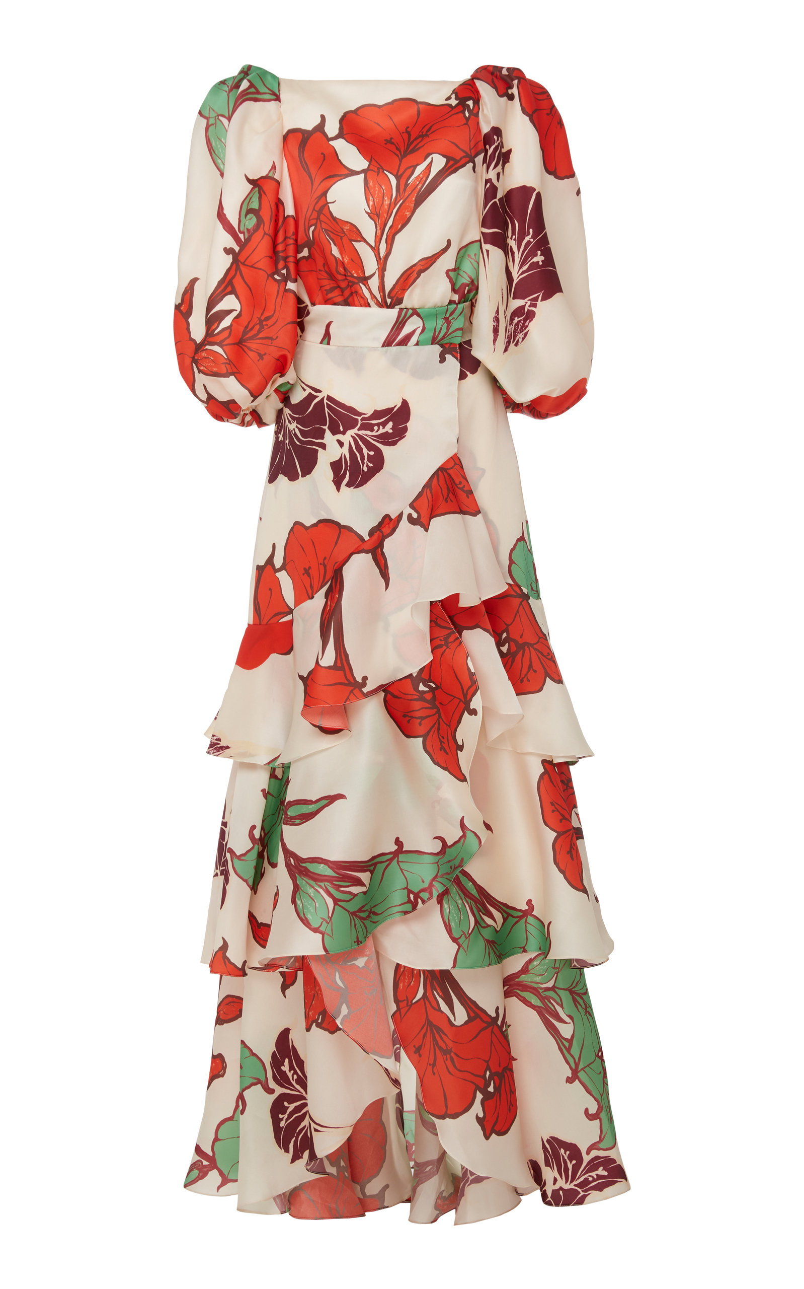 Buy Johanna Ortiz Forbidden Tropics Floral Silk Gown online, shop Johanna Ortiz at the best price
