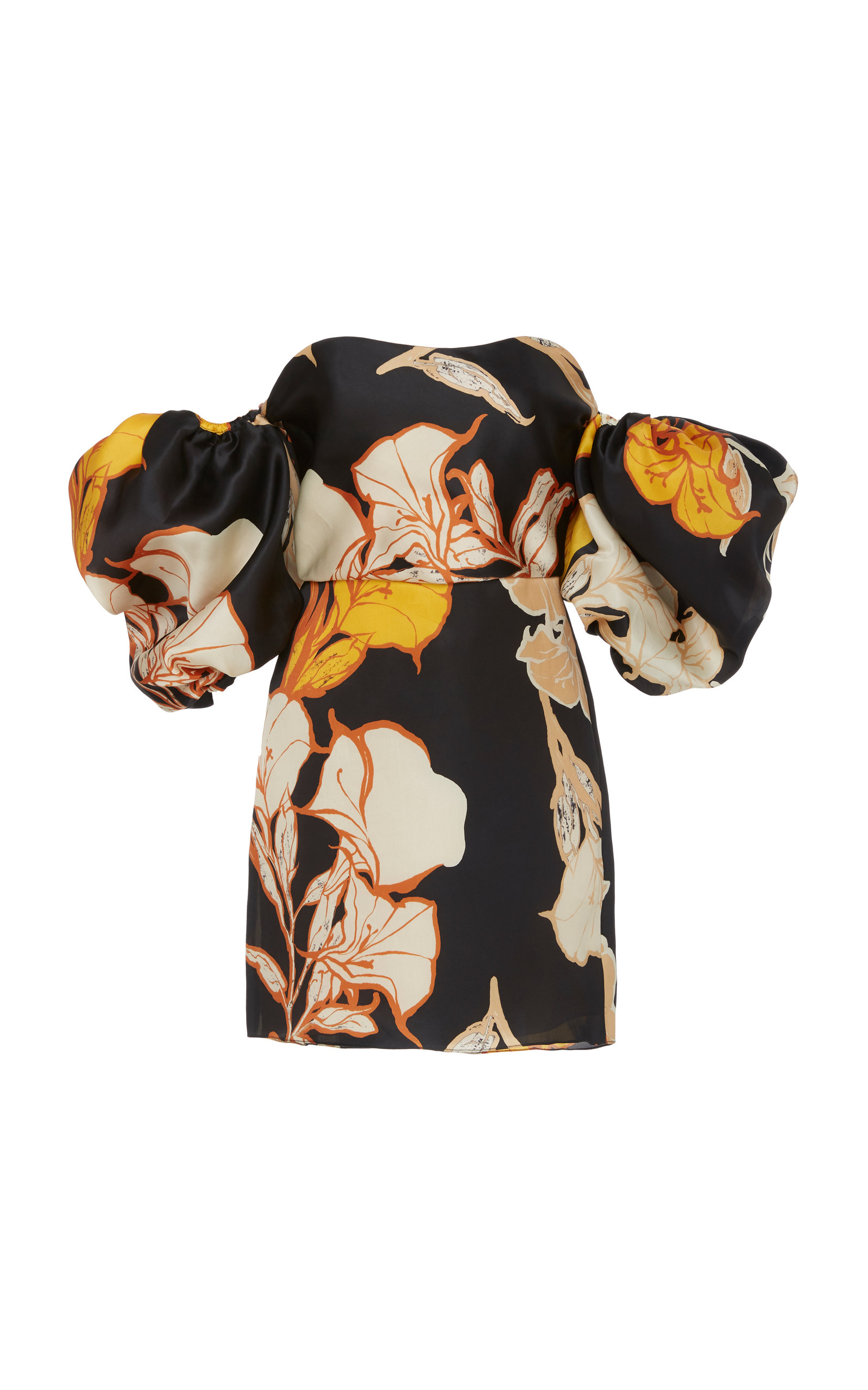 Buy Johanna Ortiz Cosmic Origin Floral-Print Silk-Satin Mini Dress online, shop Johanna Ortiz at the best price