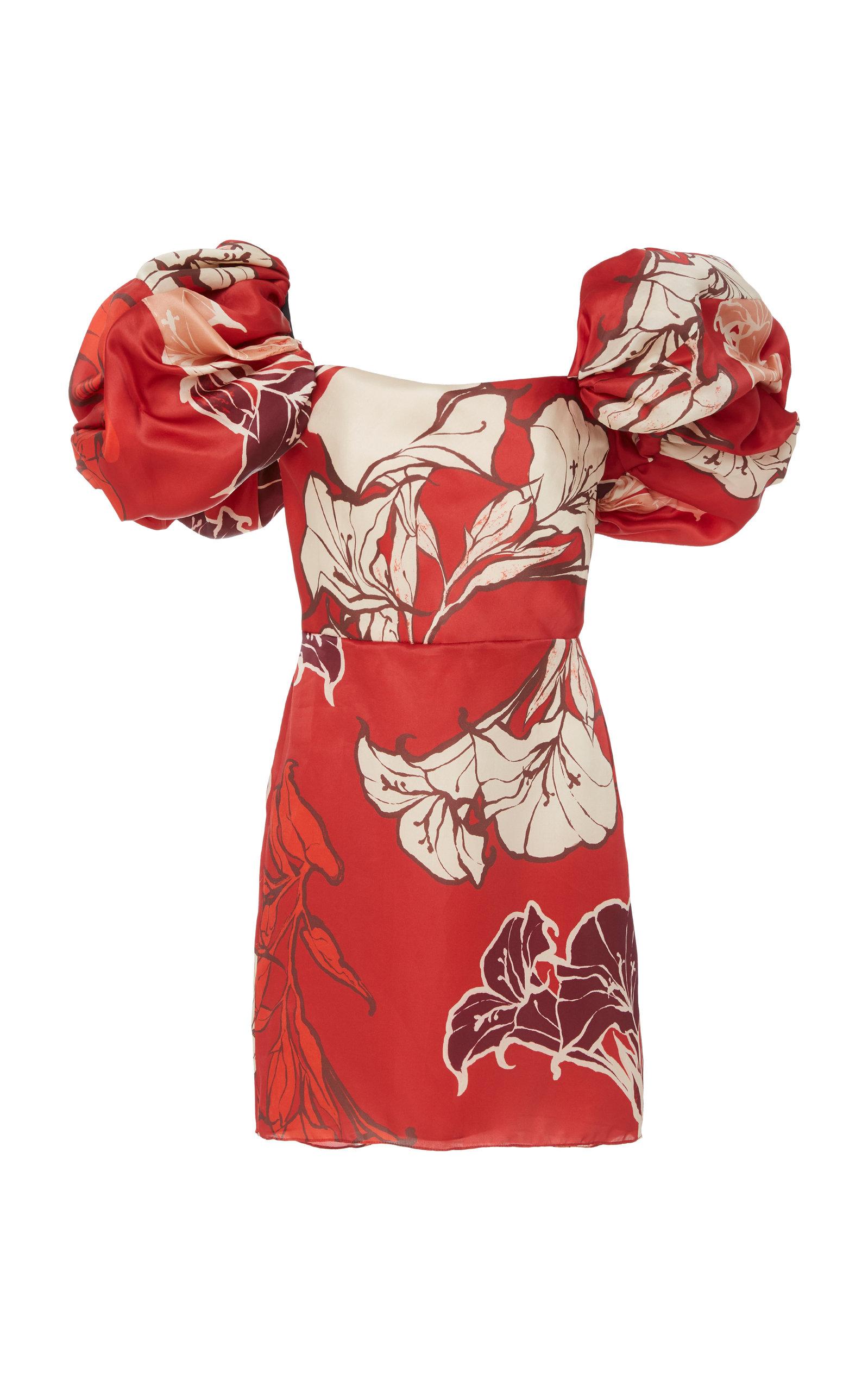 Buy Johanna Ortiz Floral-Print Silk-Satin Mini Dress online, shop Johanna Ortiz at the best price