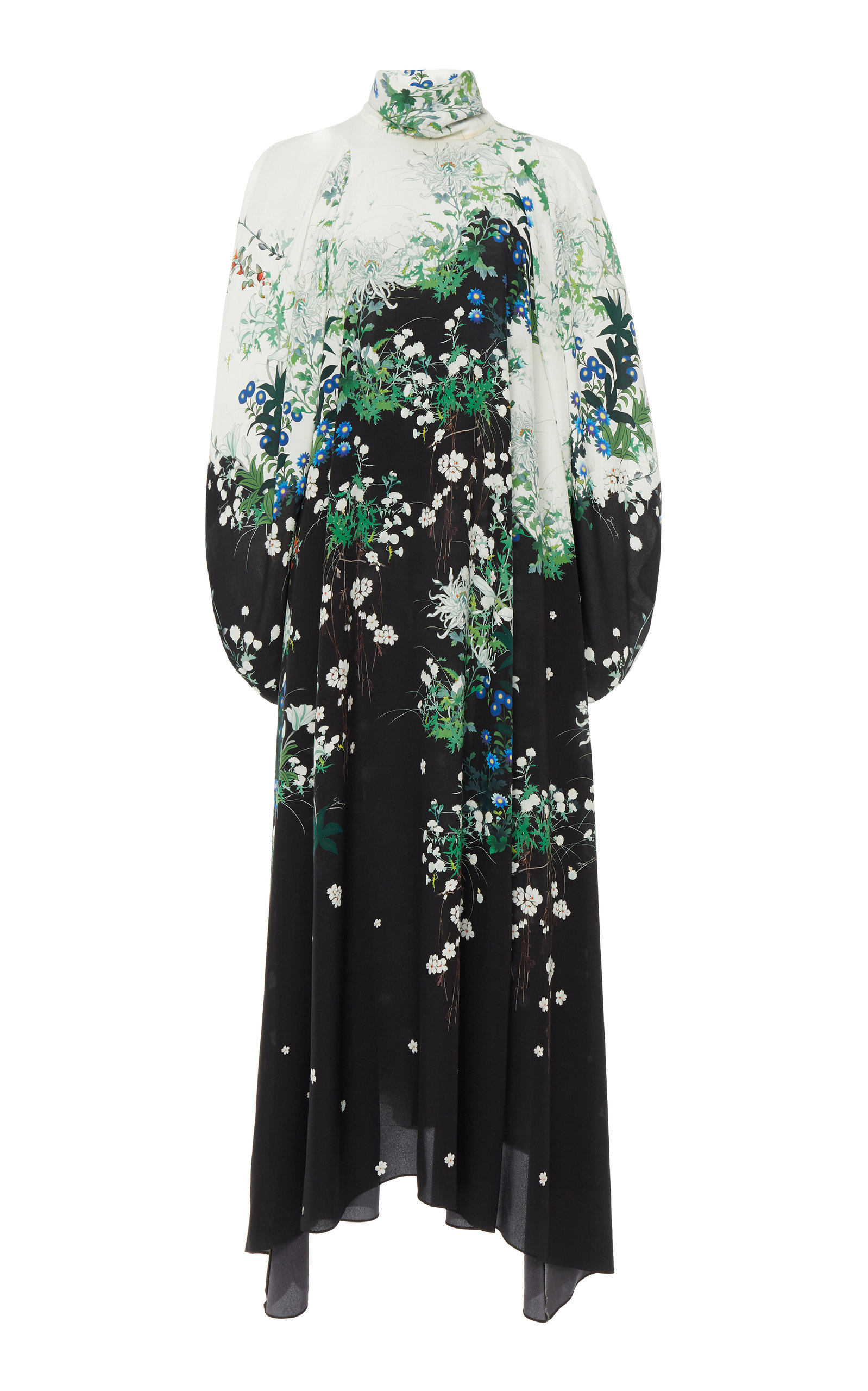 Buy Givenchy Floral-Print Silk-Chiffon Midi Dress online, shop Givenchy at the best price