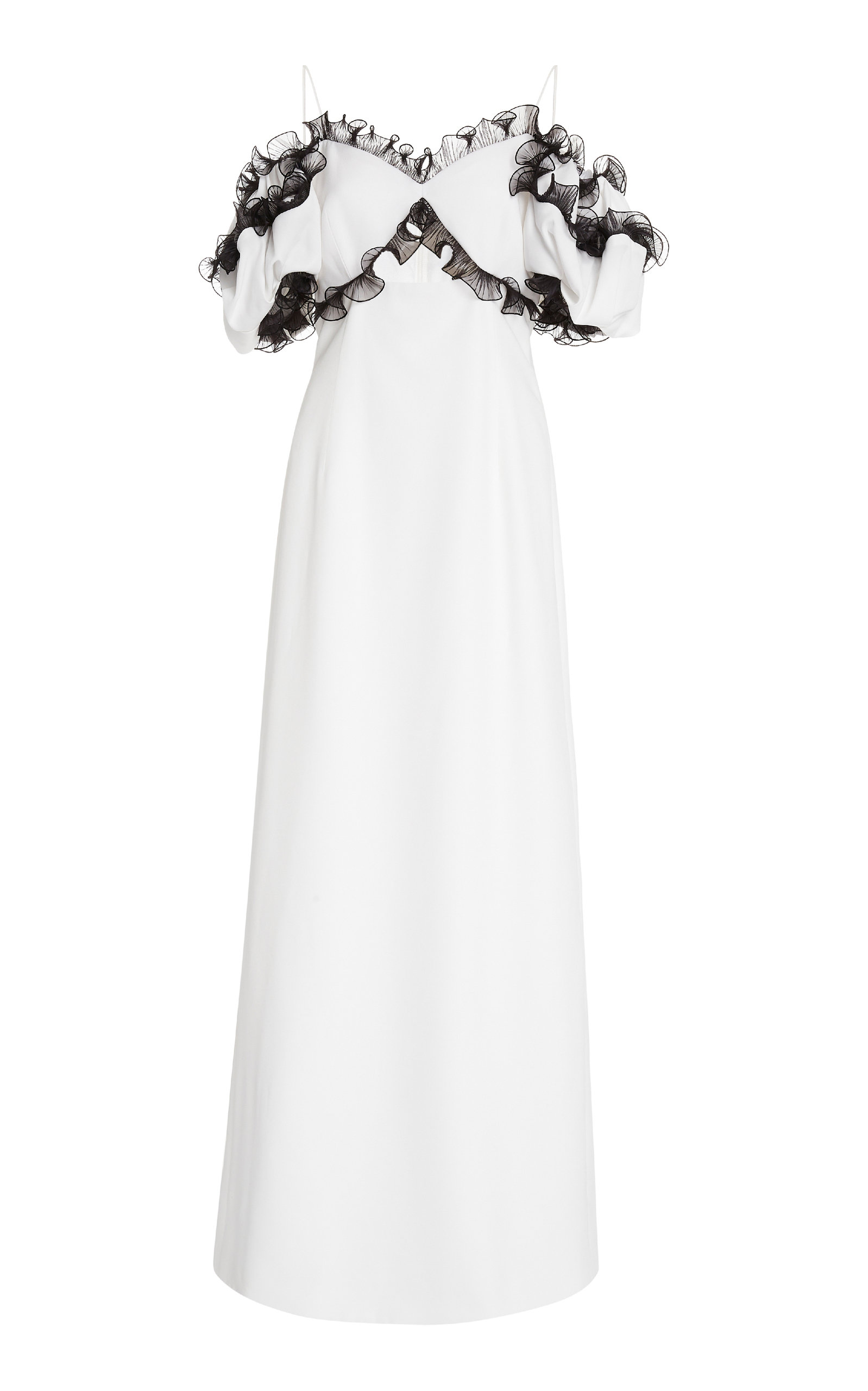 Buy Givenchy Cold-Shoulder Tulle-Trimmed Crepe Dress online, shop Givenchy at the best price