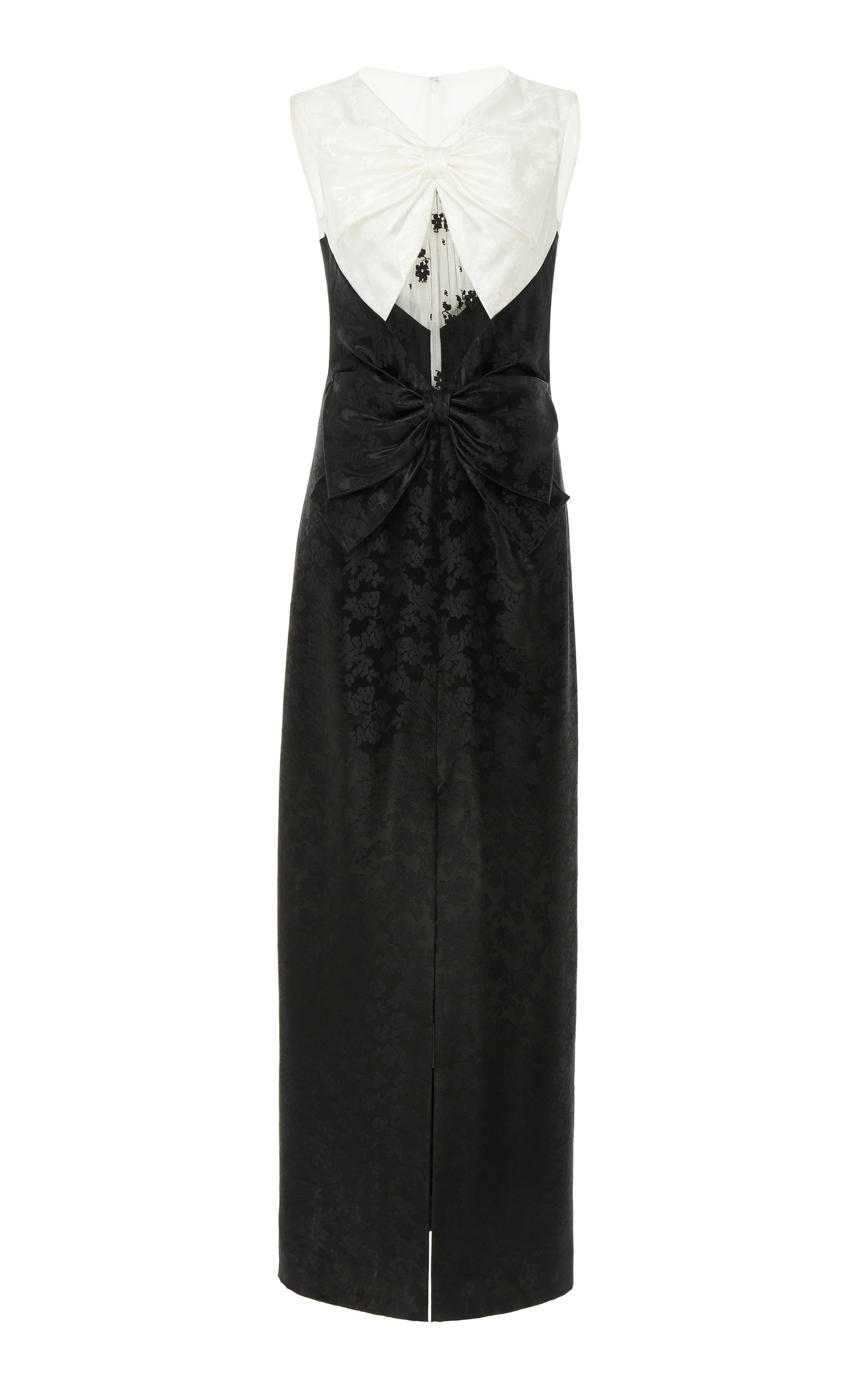 Buy Givenchy Bow-Embellished Lace-Paneled Floral-Brocade Gown online, shop Givenchy at the best price