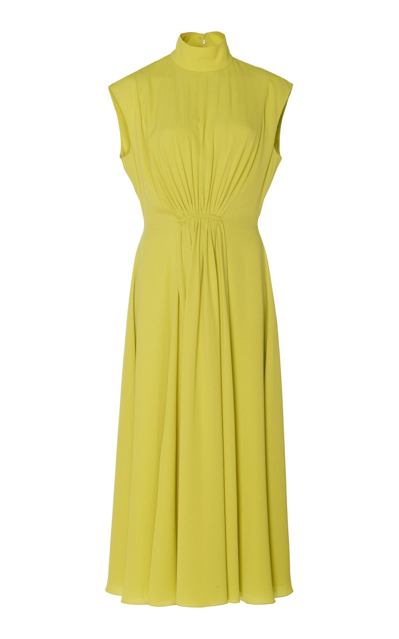 Buy Emilia Wickstead Valencia Matelassé Cady Midi Dress online, shop Emilia Wickstead at the best price