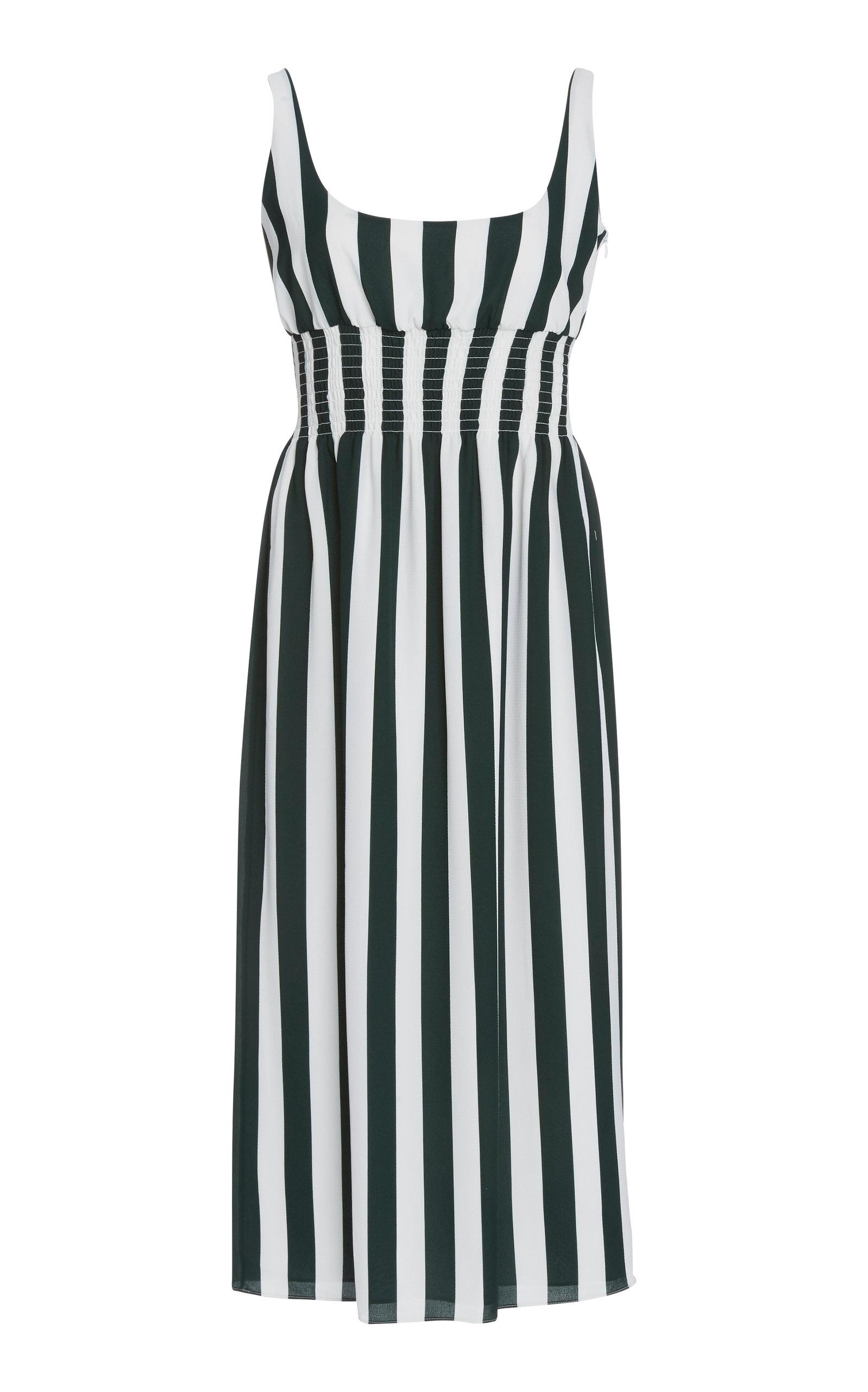 Buy Emilia Wickstead Giovanna Striped Stretch-Crepe Midi Dress online, shop Emilia Wickstead at the best price