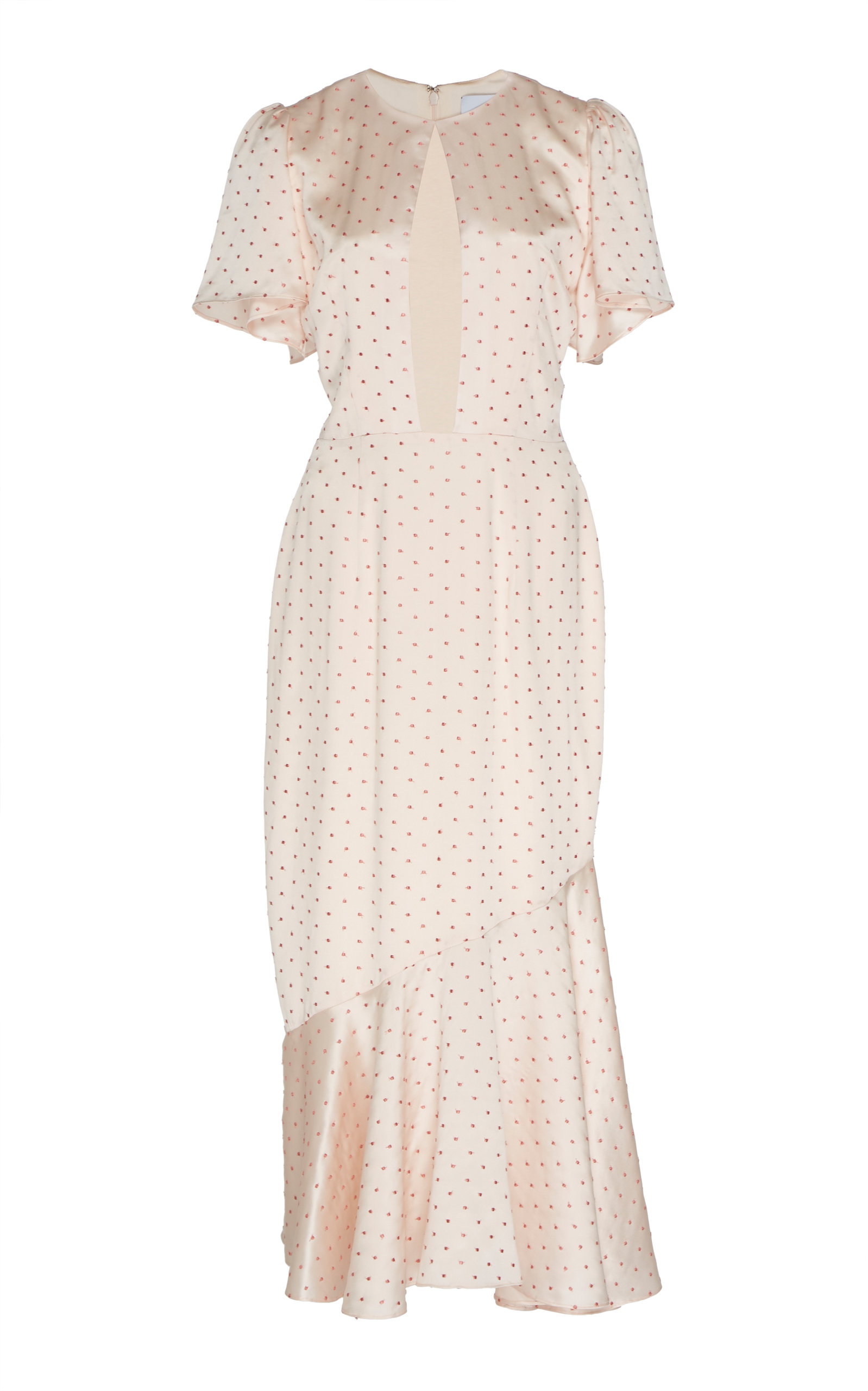 Buy Markarian Ingrid Polka-Dot Silk-Blend Satin Midi Dress online, shop Markarian at the best price