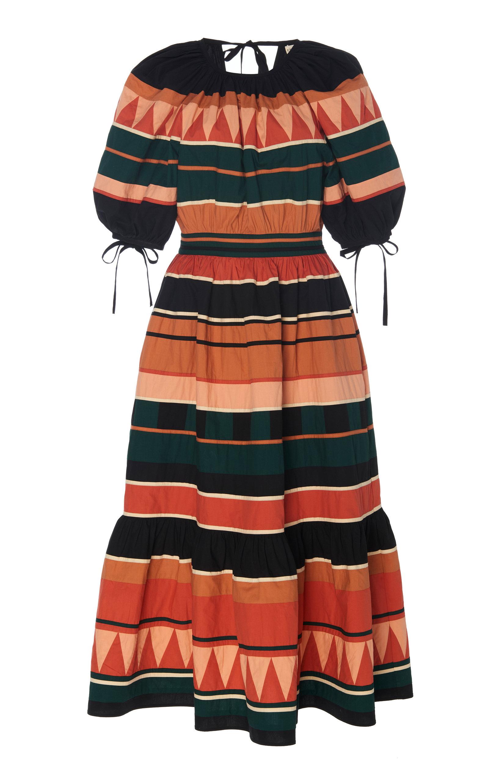 Buy Ulla Johnson Ayita Printed Cotton-Poplin Midi Dress online, shop Ulla Johnson at the best price