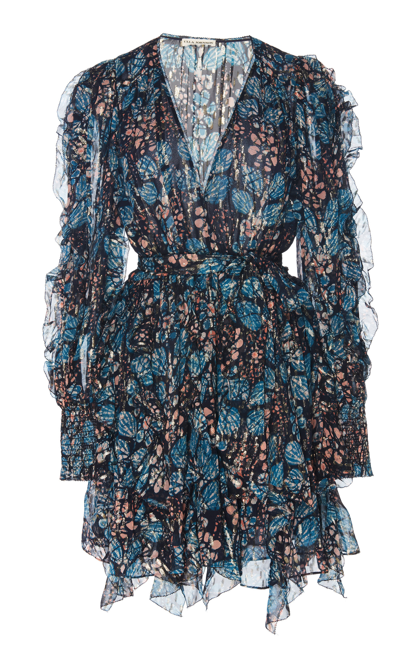 Buy Ulla Johnson Natalia Floral-Print Silk and Lurex-Blend Mini Dress online, shop Ulla Johnson at the best price