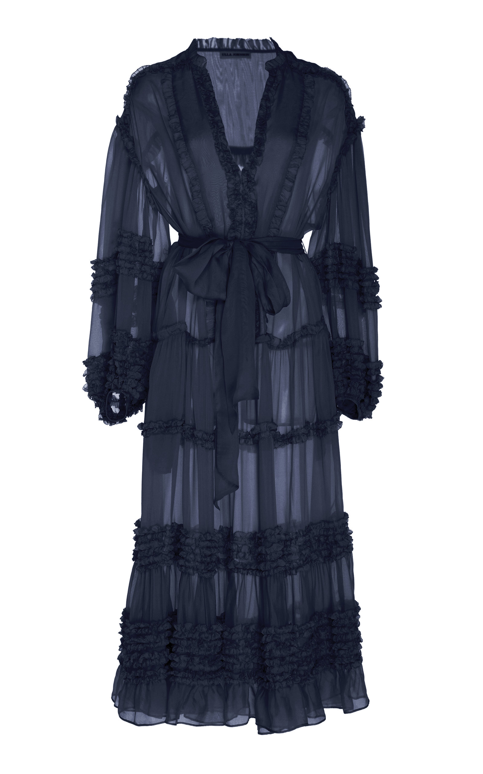 Buy Ulla Johnson Althea Ruffled Silk-Chiffon Midi Dress online, shop Ulla Johnson at the best price