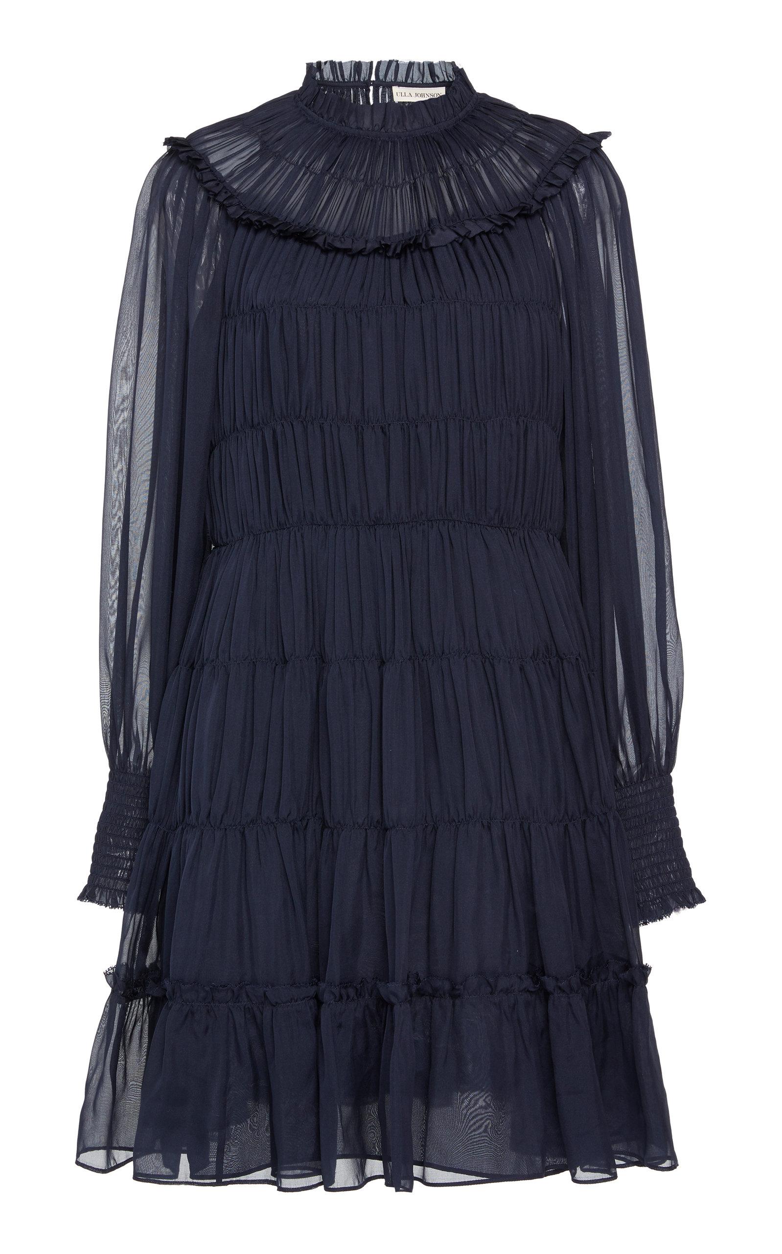 Buy Ulla Johnson Emmeline Ruched Silk Dress online, shop Ulla Johnson at the best price